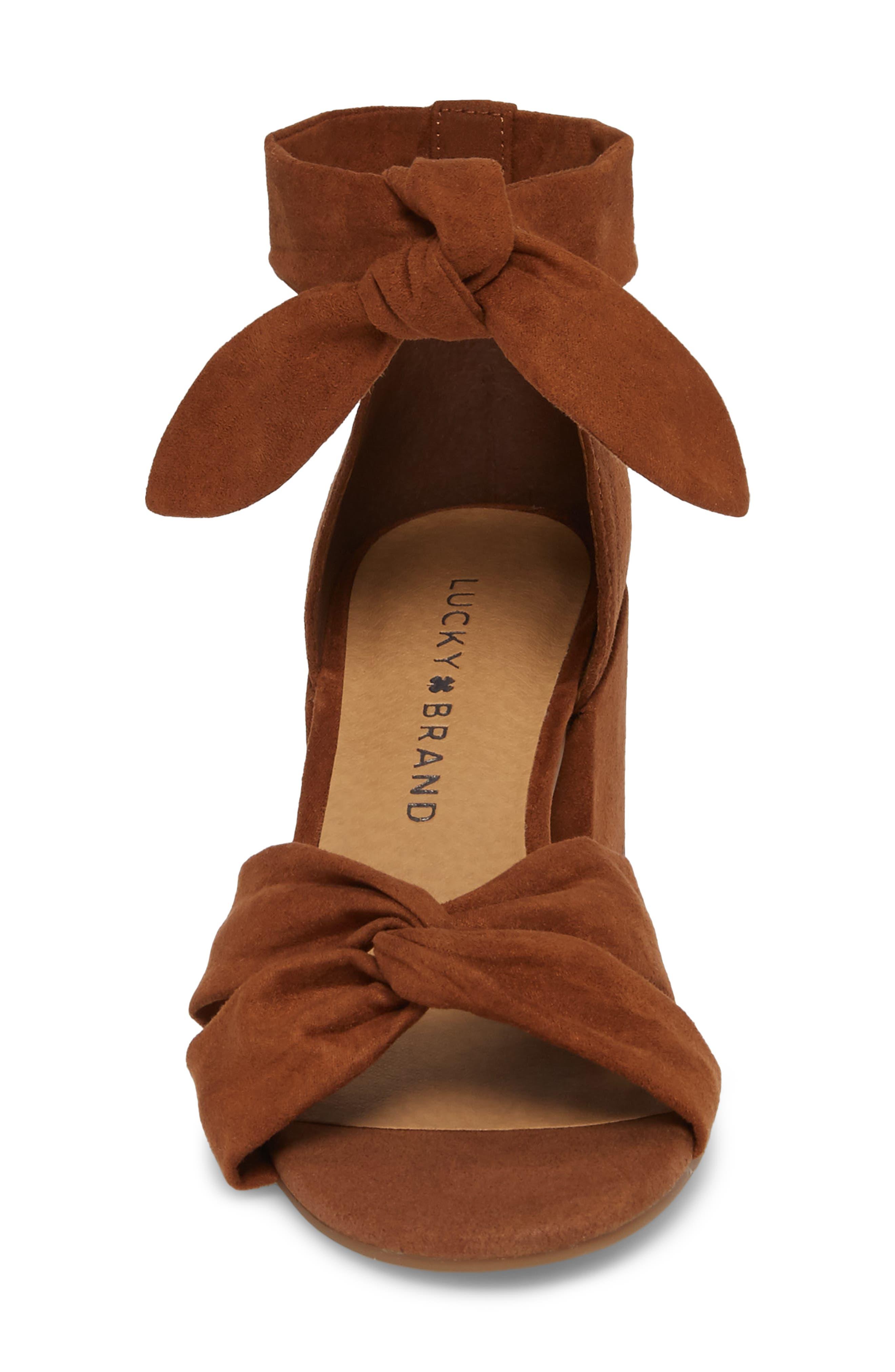 Xaylah Ankle Strap Sandal,                             Alternate thumbnail 4, color,                             Cedar Leather