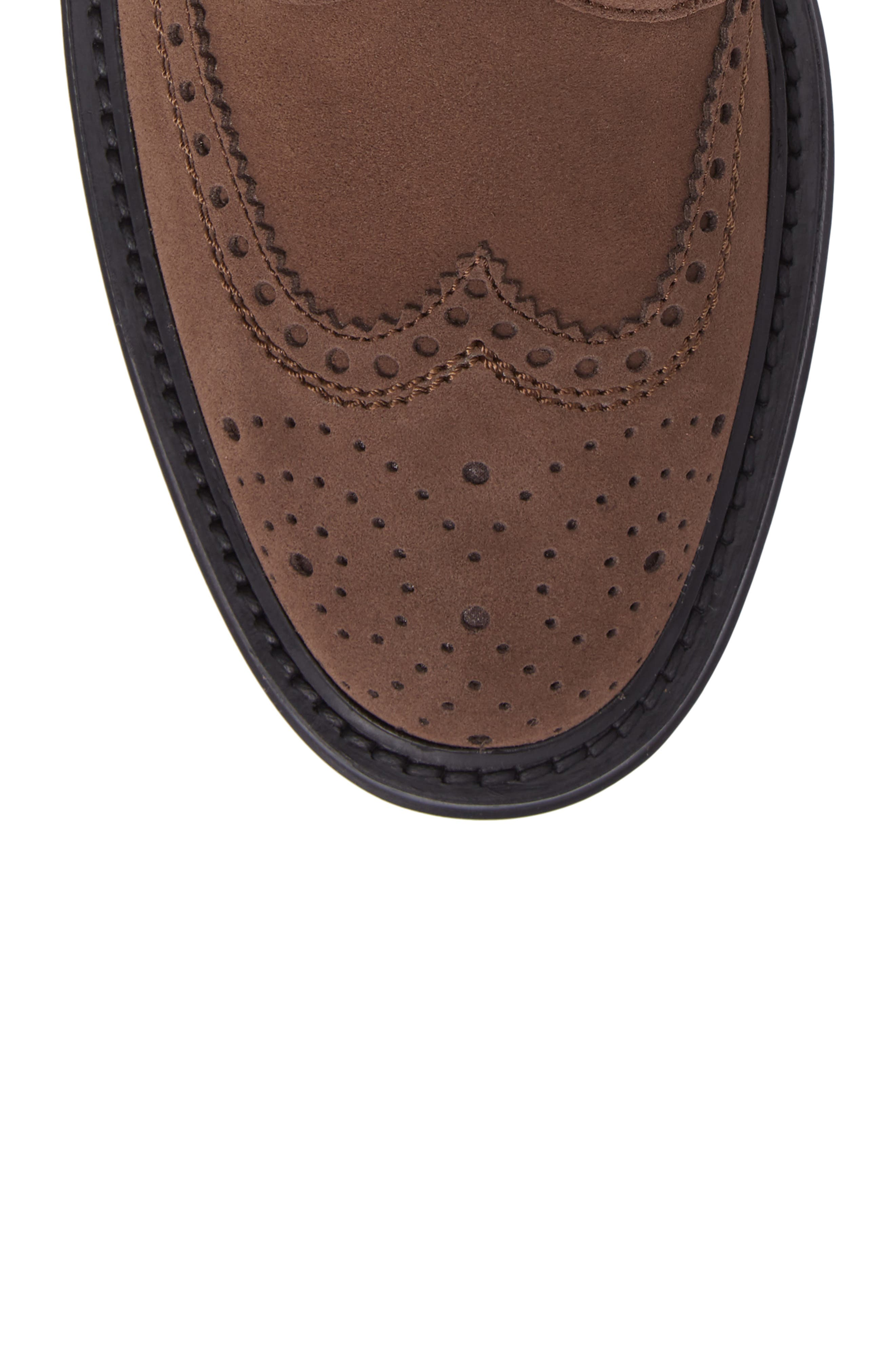 Lawrence Wingtip Boot,                             Alternate thumbnail 5, color,                             Dark Taupe