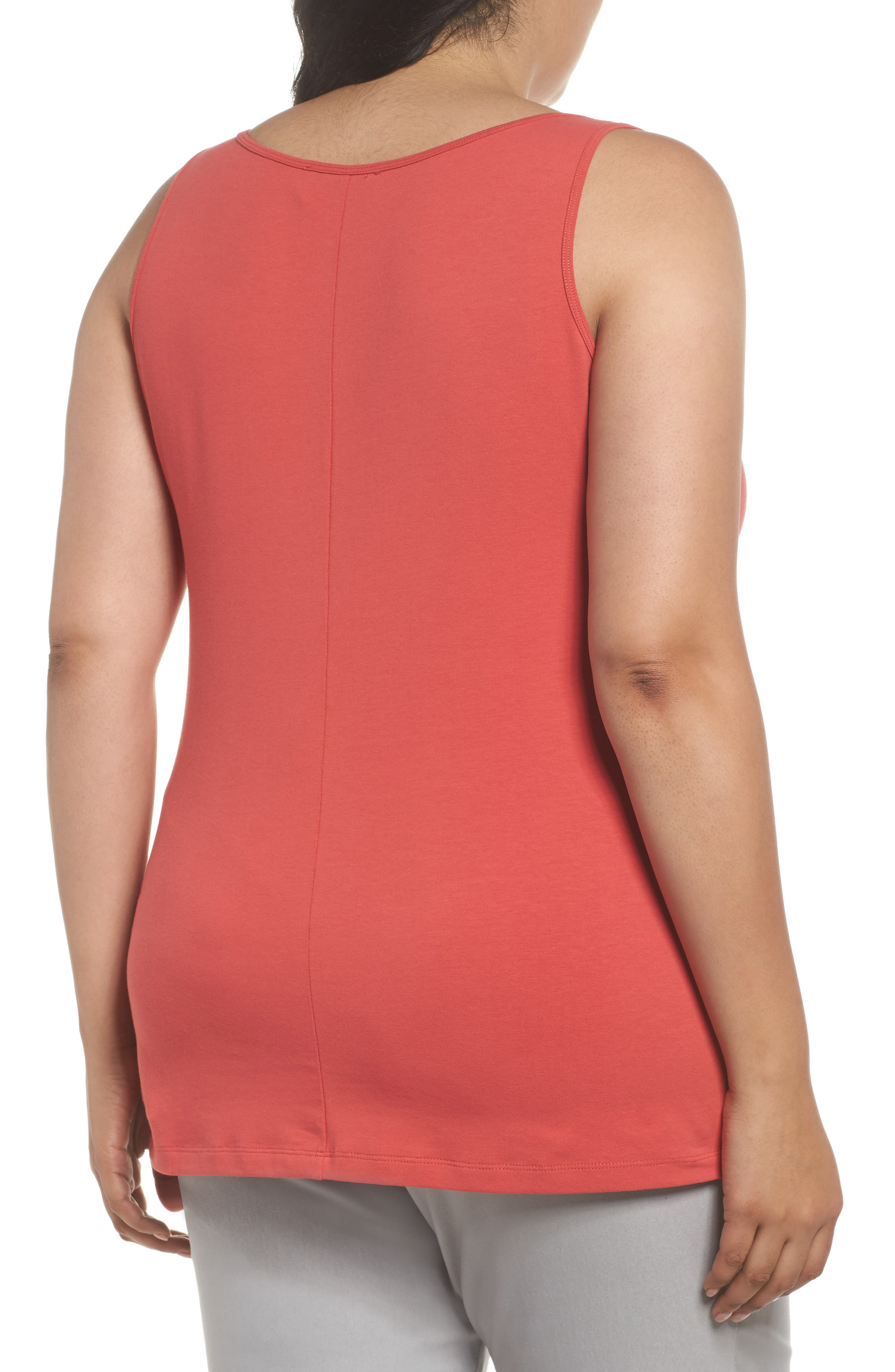 Perfect Scoop Tank,                             Alternate thumbnail 2, color,                             Spiced Rose