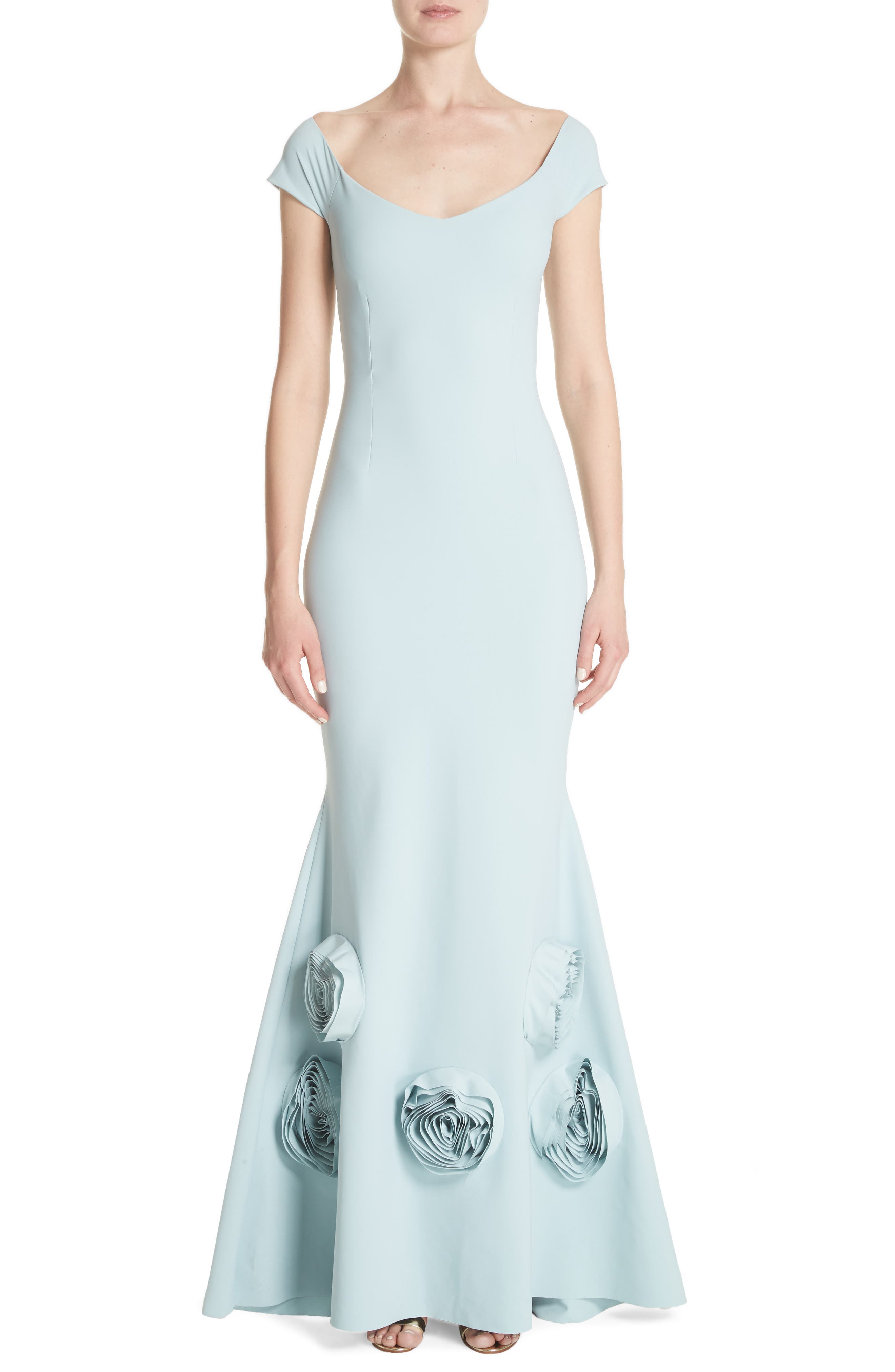 Main Image - Chiara Boni la Petite Robe Lobelia Rose Hem Mermaid Gown