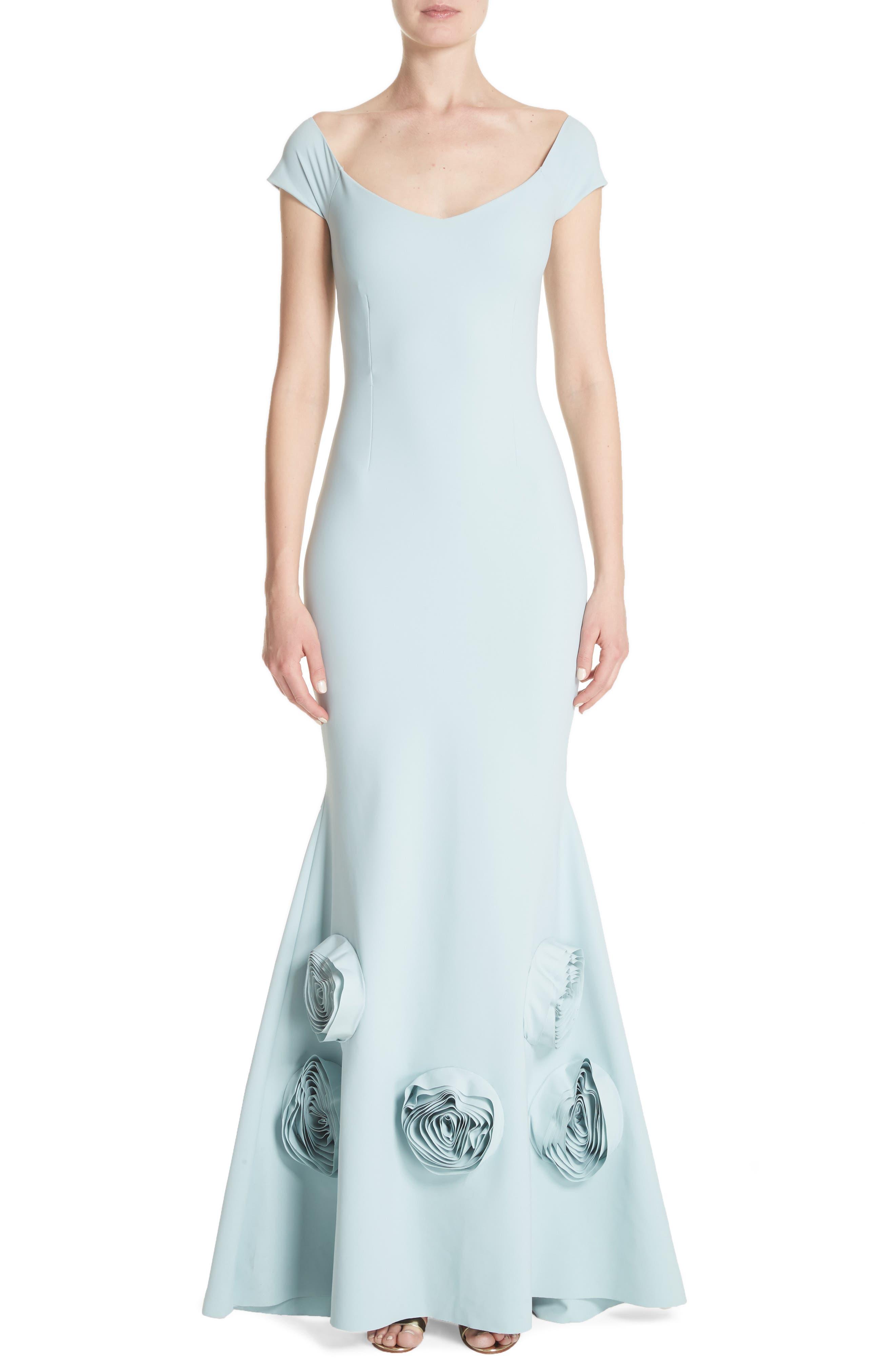 Lobelia Rose Hem Mermaid Gown,                         Main,                         color, Rugiada