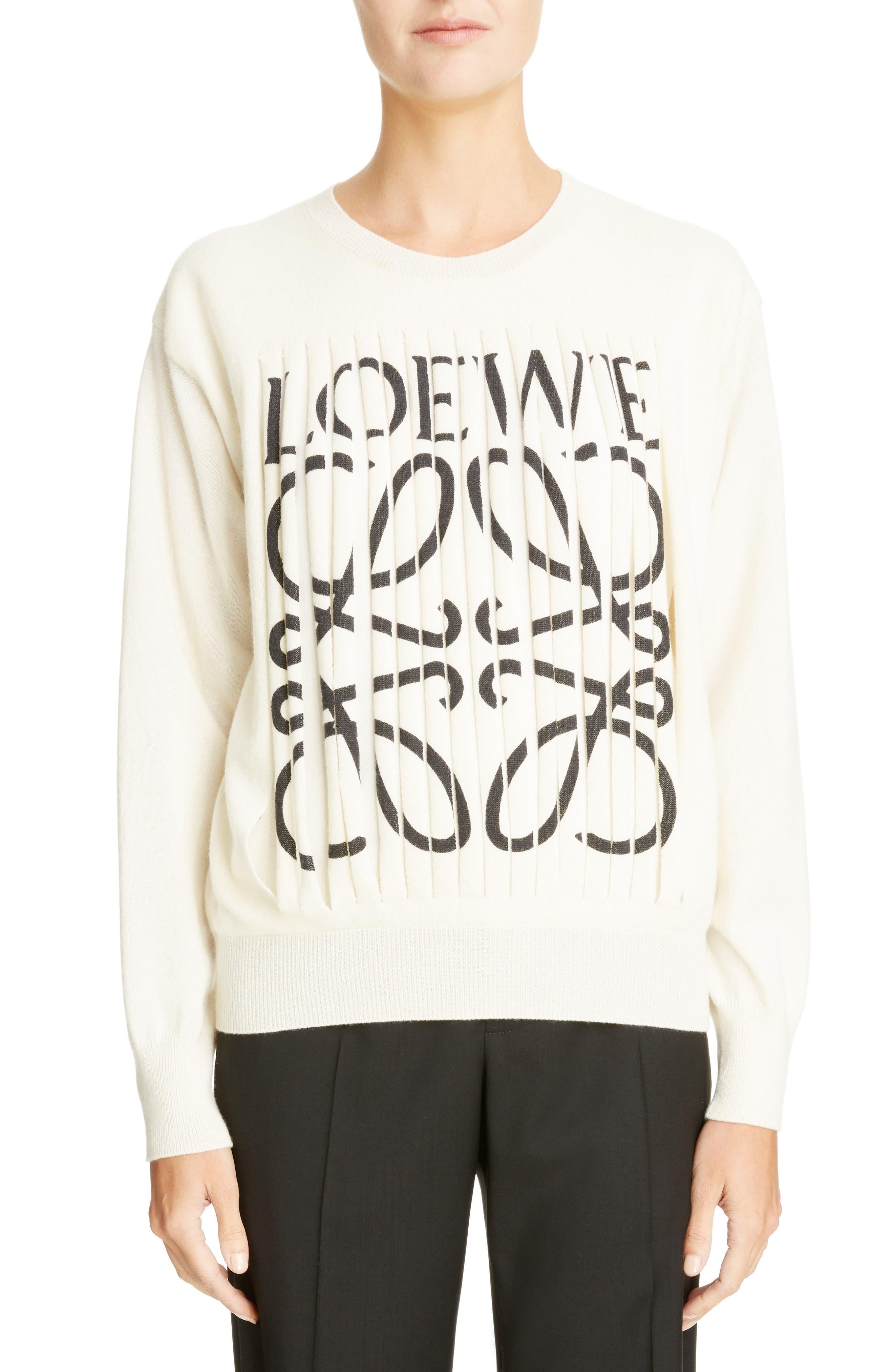 Loewe Shredded Logo Cashmere Sweater