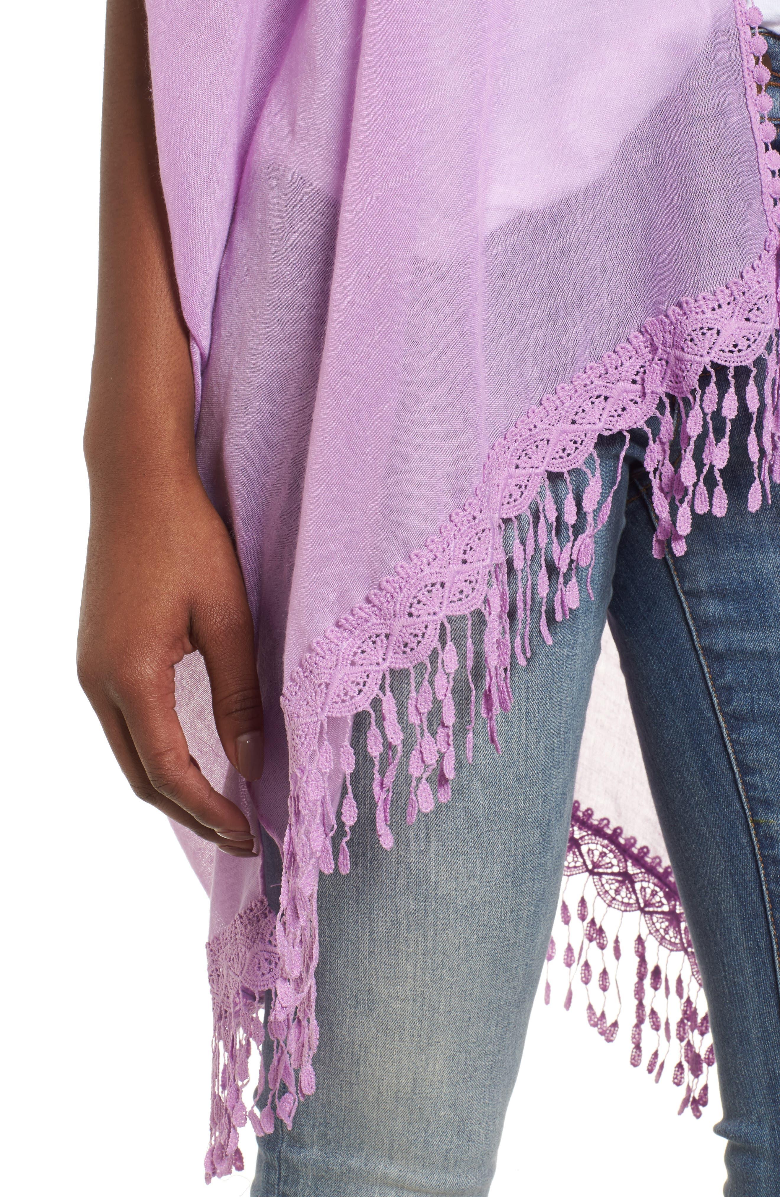 Alternate Image 4  - Caslon® Lace Trim Ruana