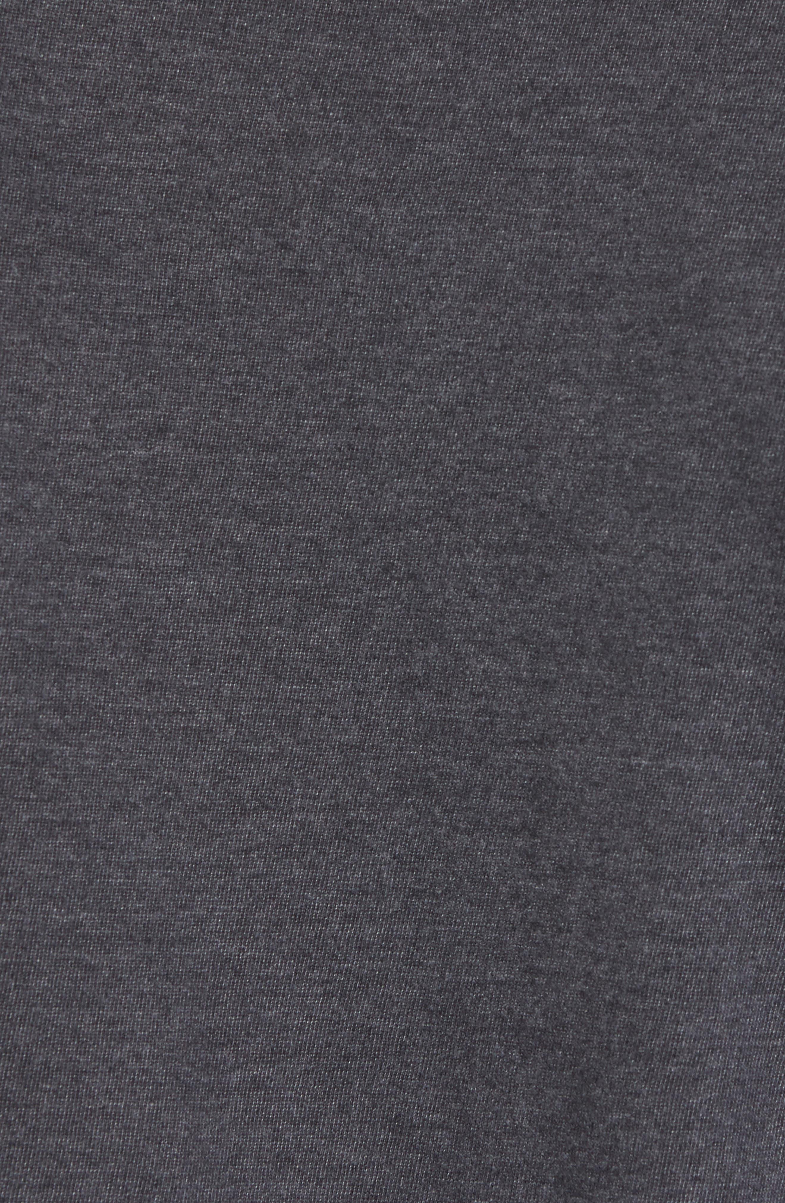 Hillwood Flyers T-Shirt,                             Alternate thumbnail 5, color,                             Heather Black