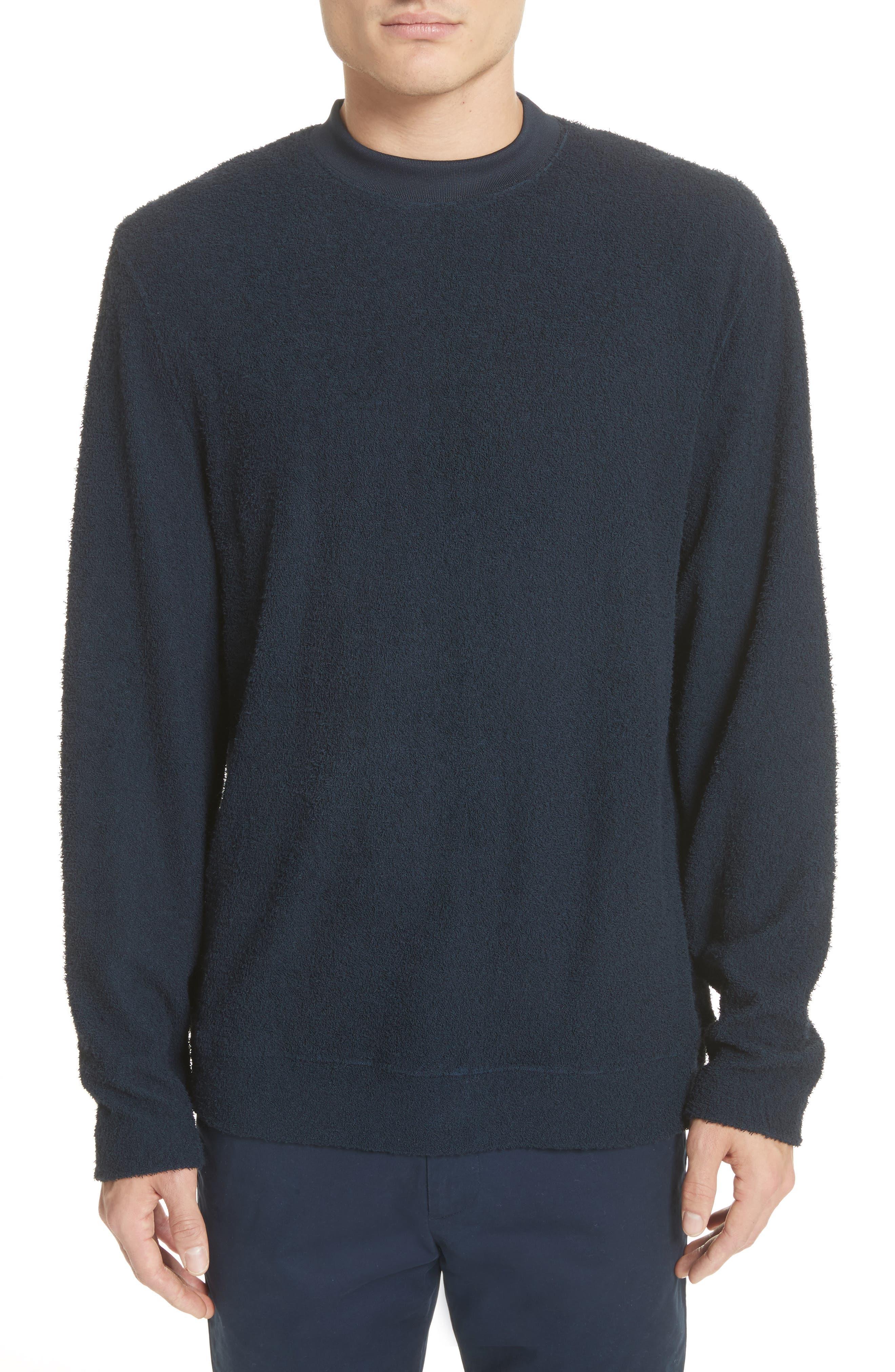 Rask Crewneck Sweatshirt,                         Main,                         color, Dark Navy