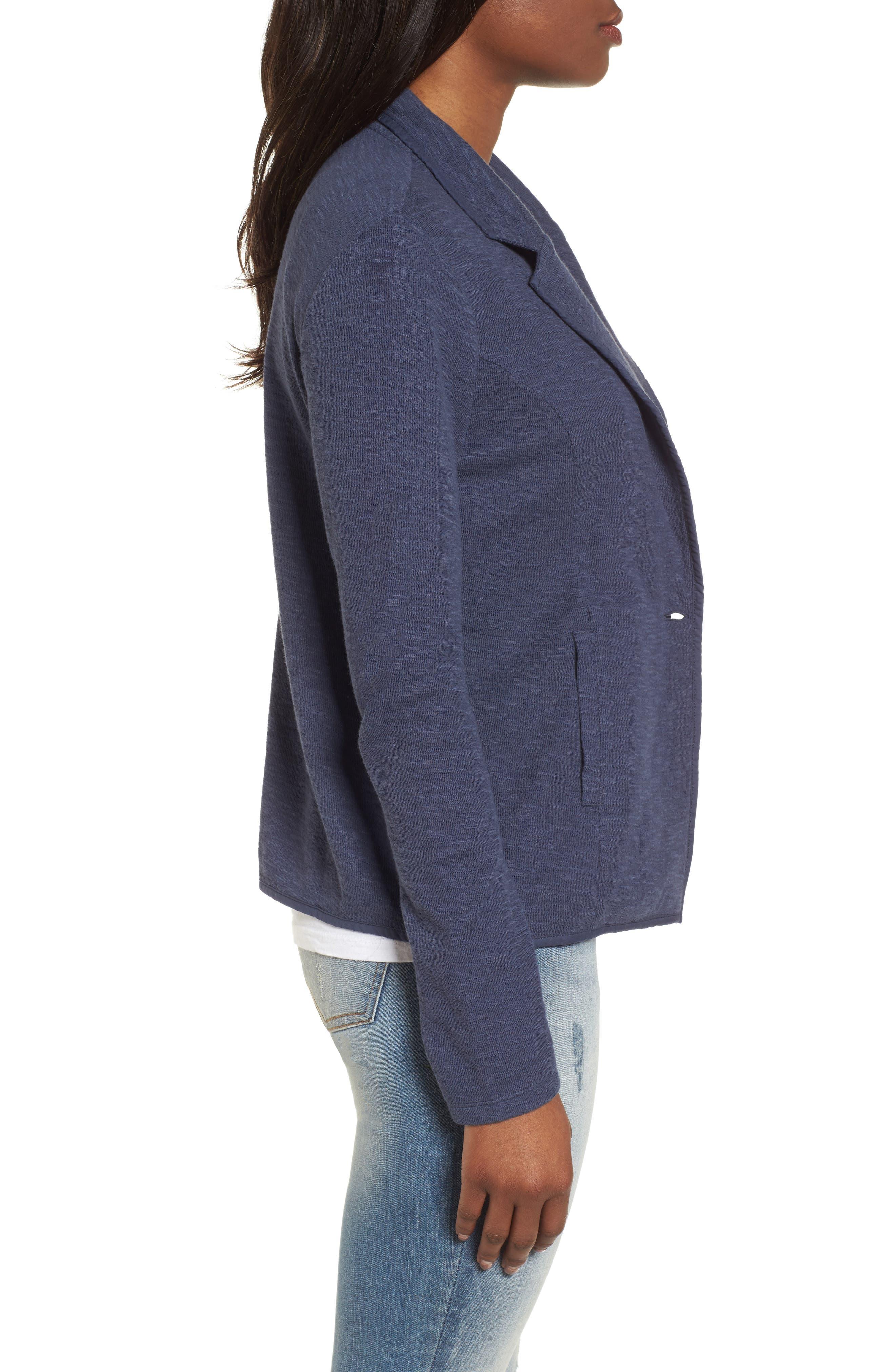 Alternate Image 3  - Caslon® One-Button Knit Blazer (Regular & Petite)
