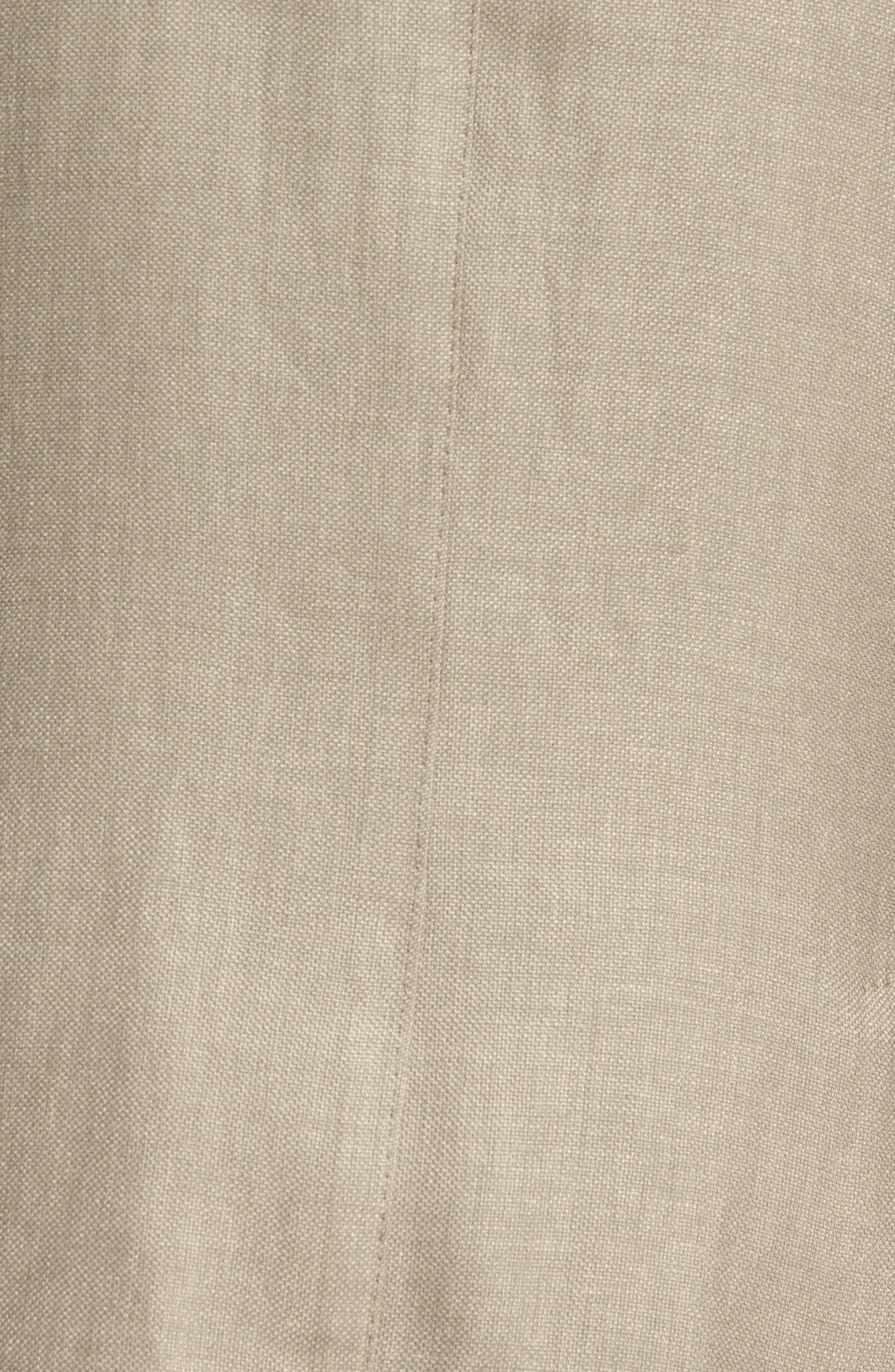 Hopsak Trim Fit Linen Blend Blazer,                             Alternate thumbnail 5, color,                             Taupe
