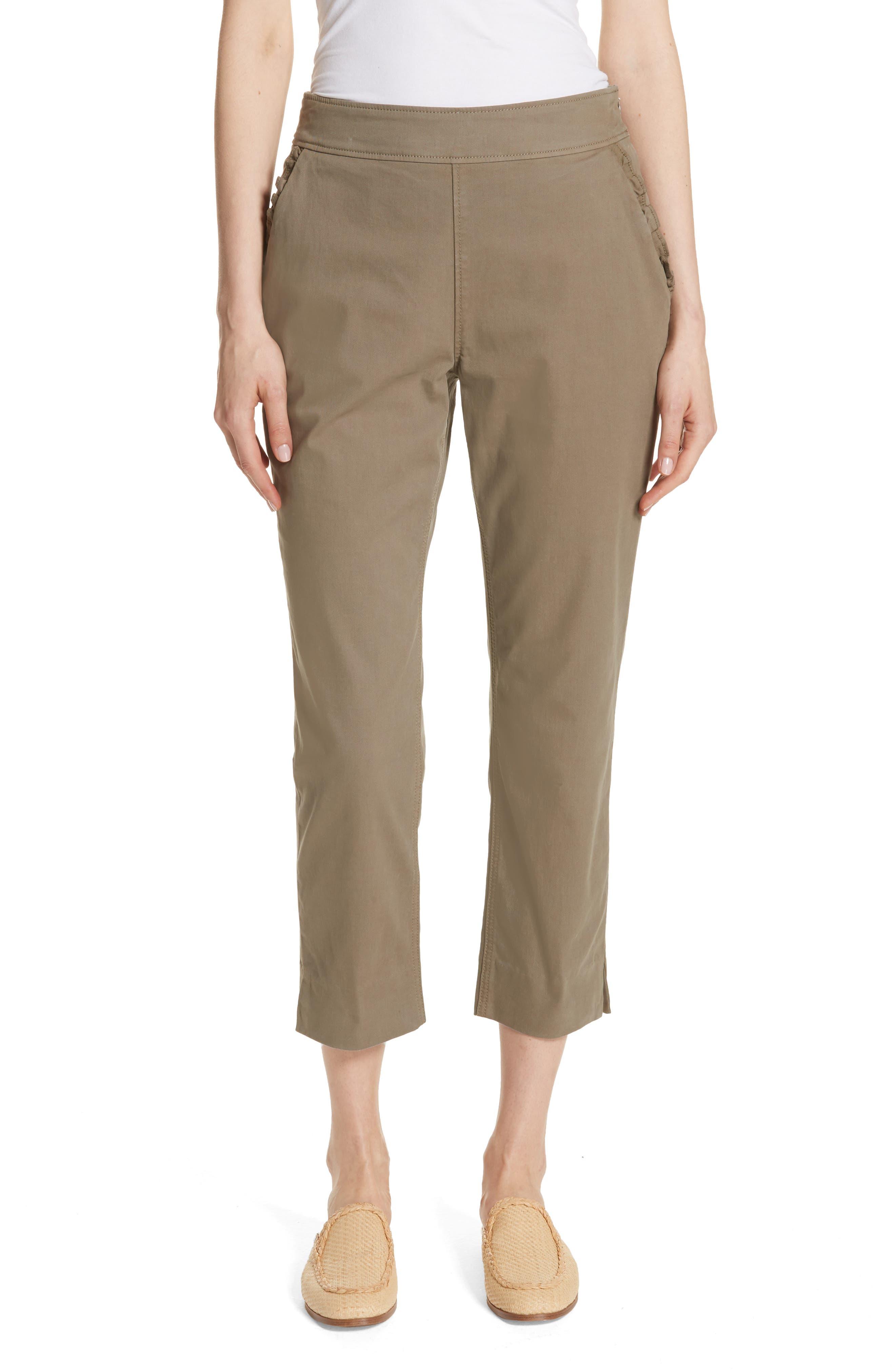 kate spade new york slim crop chino pants