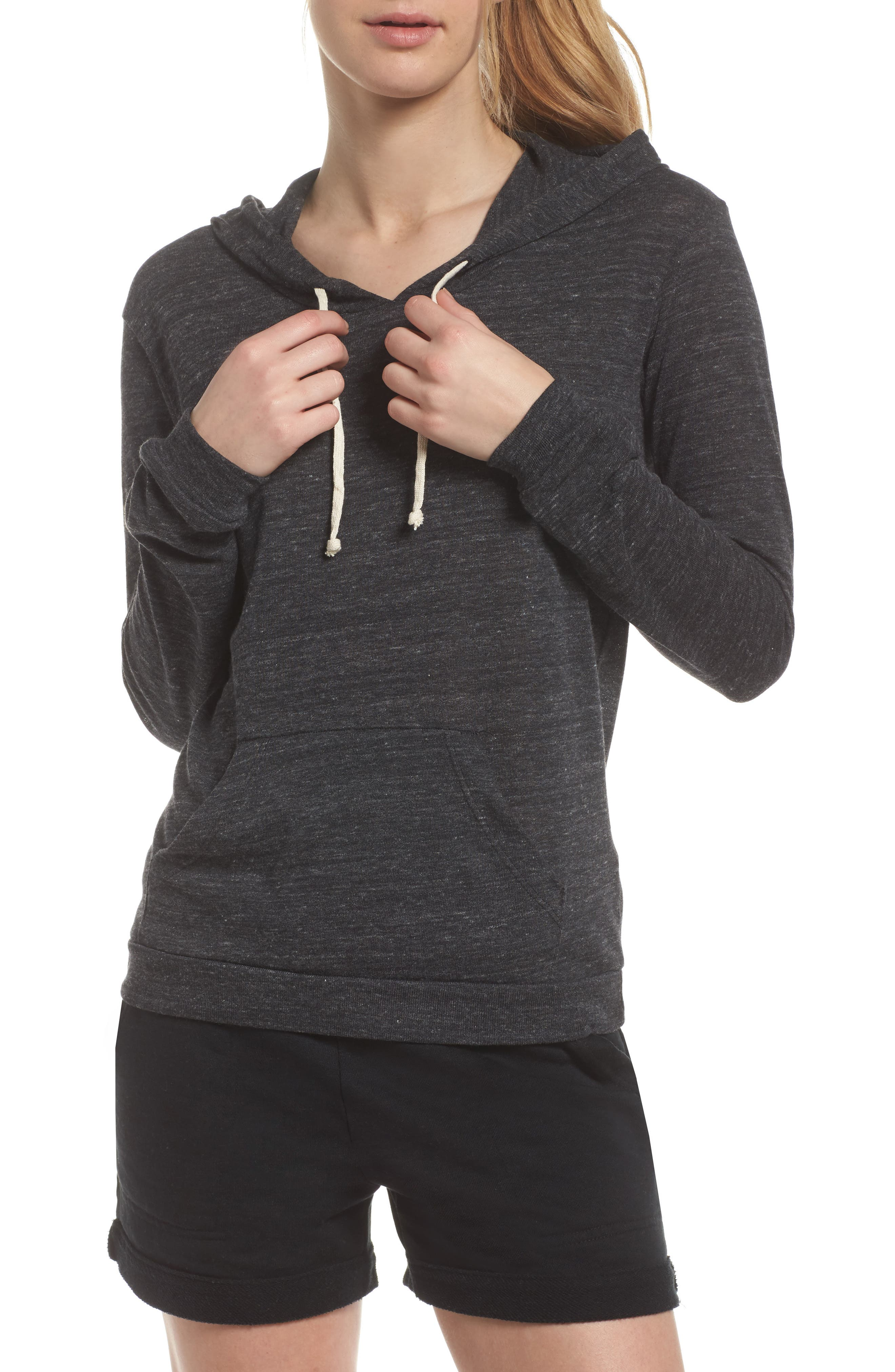 Classic Pullover Hoodie,                             Main thumbnail 1, color,                             Eco Black
