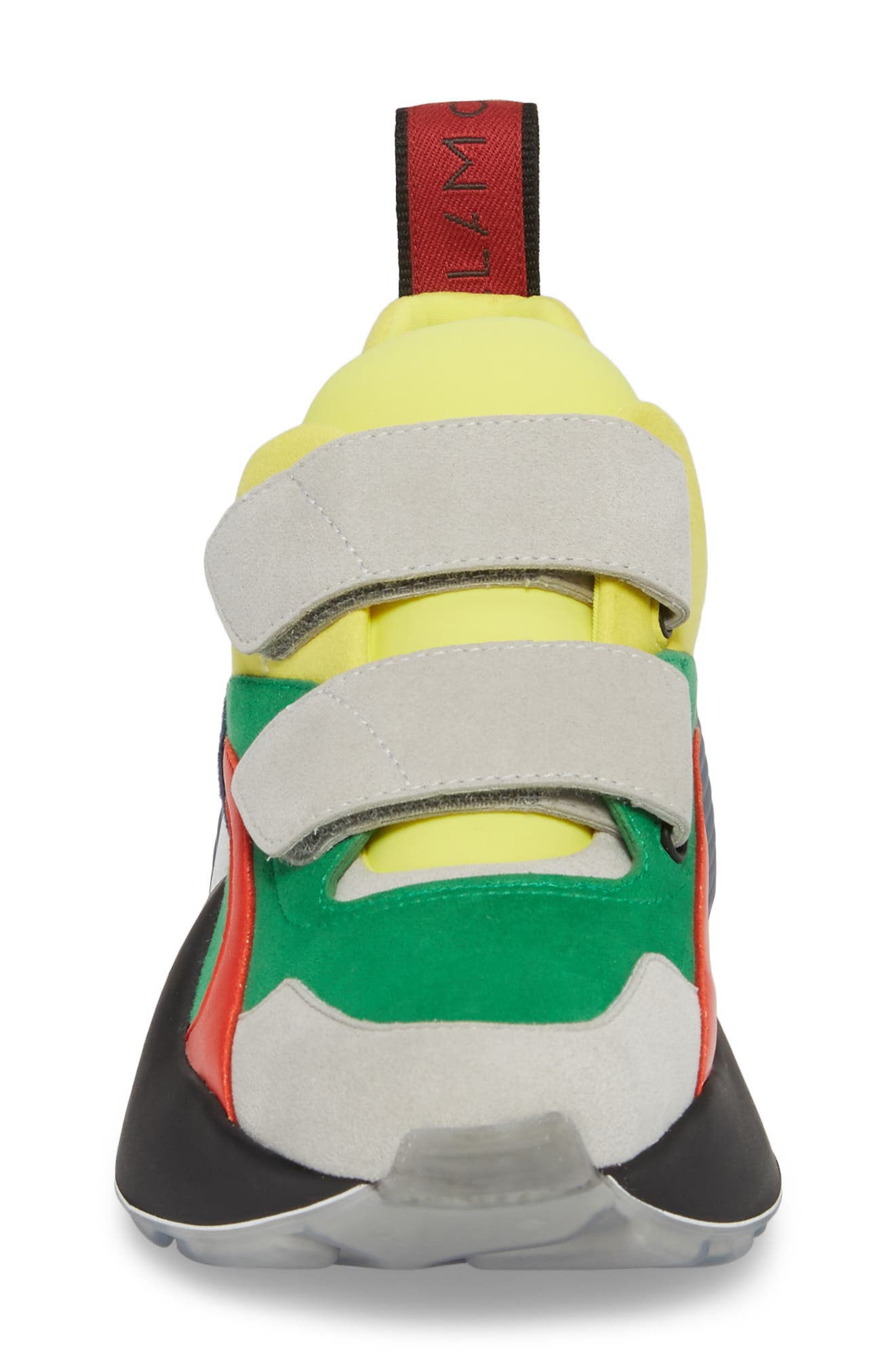 Low Top Sneaker,                             Alternate thumbnail 4, color,                             Grey/ Green/  Yellow