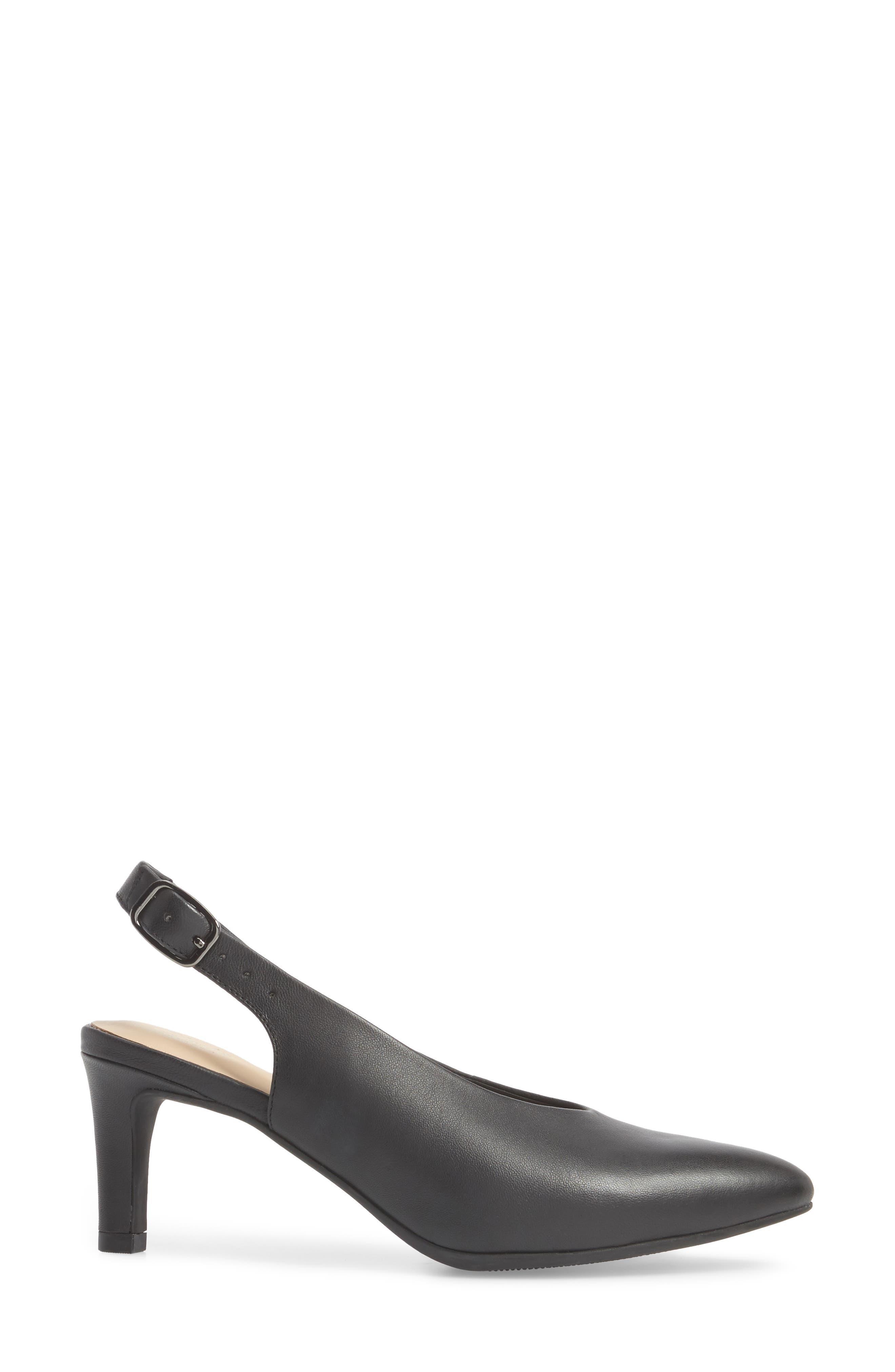 Calla Violet Kitten Heel Pump,                             Alternate thumbnail 3, color,                             Black Leather