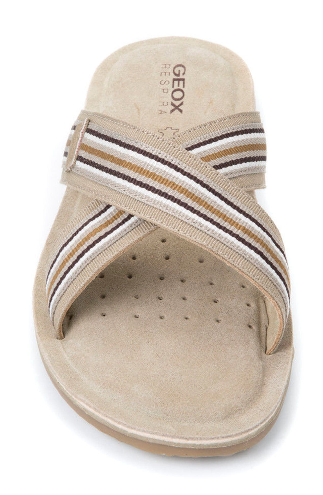 Artie 14 Cross Strap Slide Sandal,                             Alternate thumbnail 4, color,                             Sand