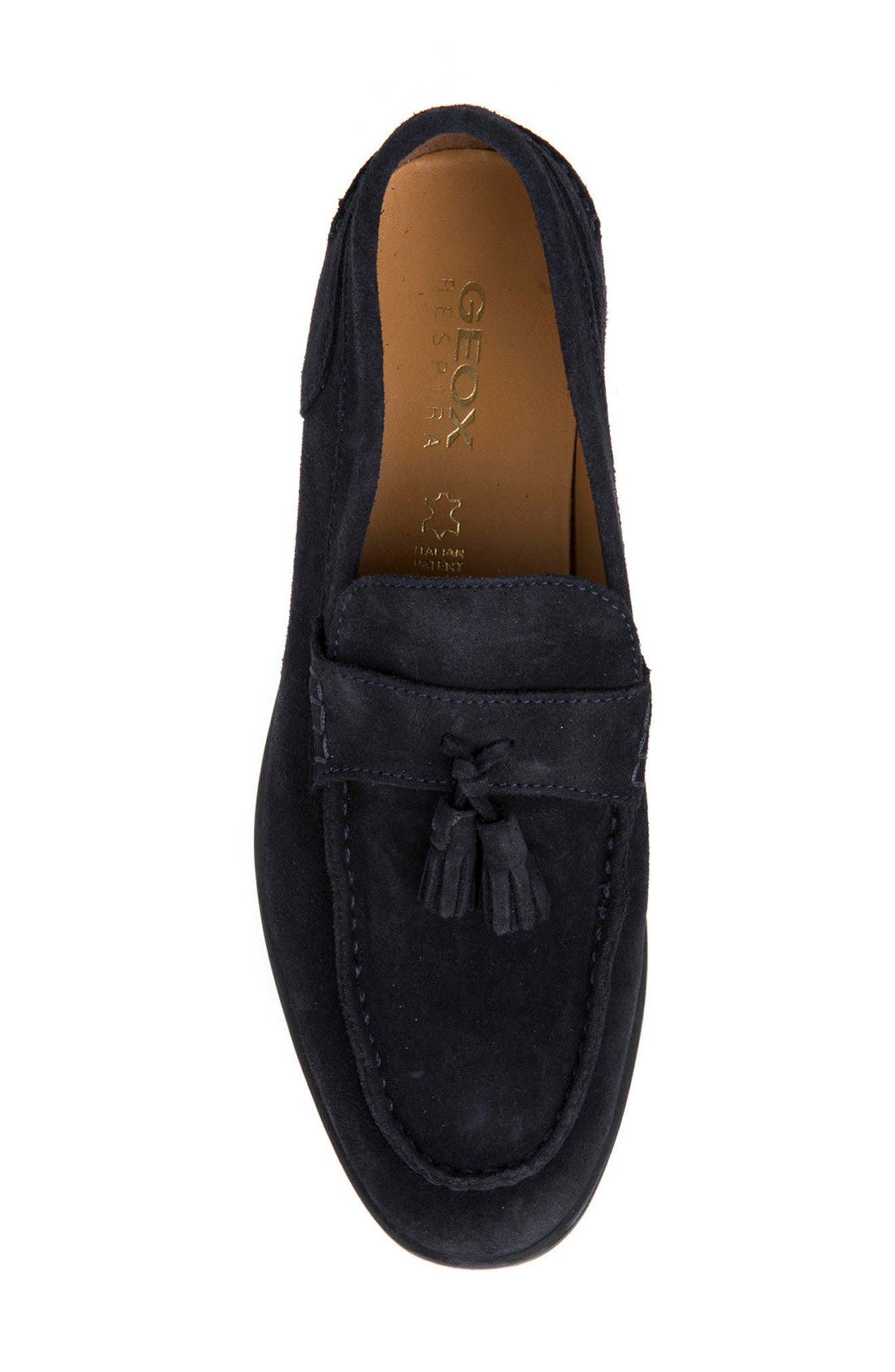 Bryceton 1 Tassel Loafer,                             Alternate thumbnail 5, color,                             Navy Suede