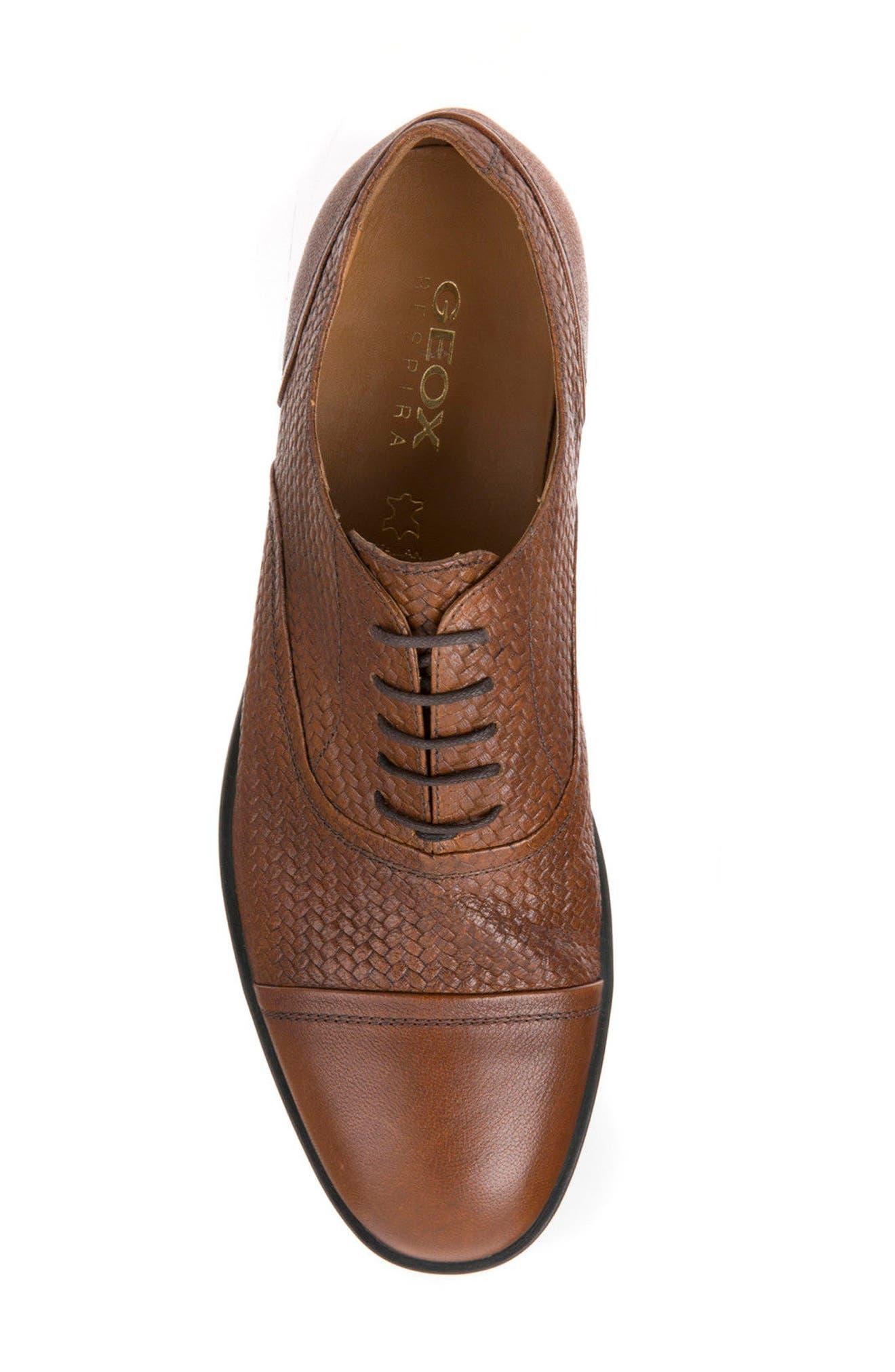 Alternate Image 5  - Geox Bryceton Textured Cap Toe Oxford (Men)
