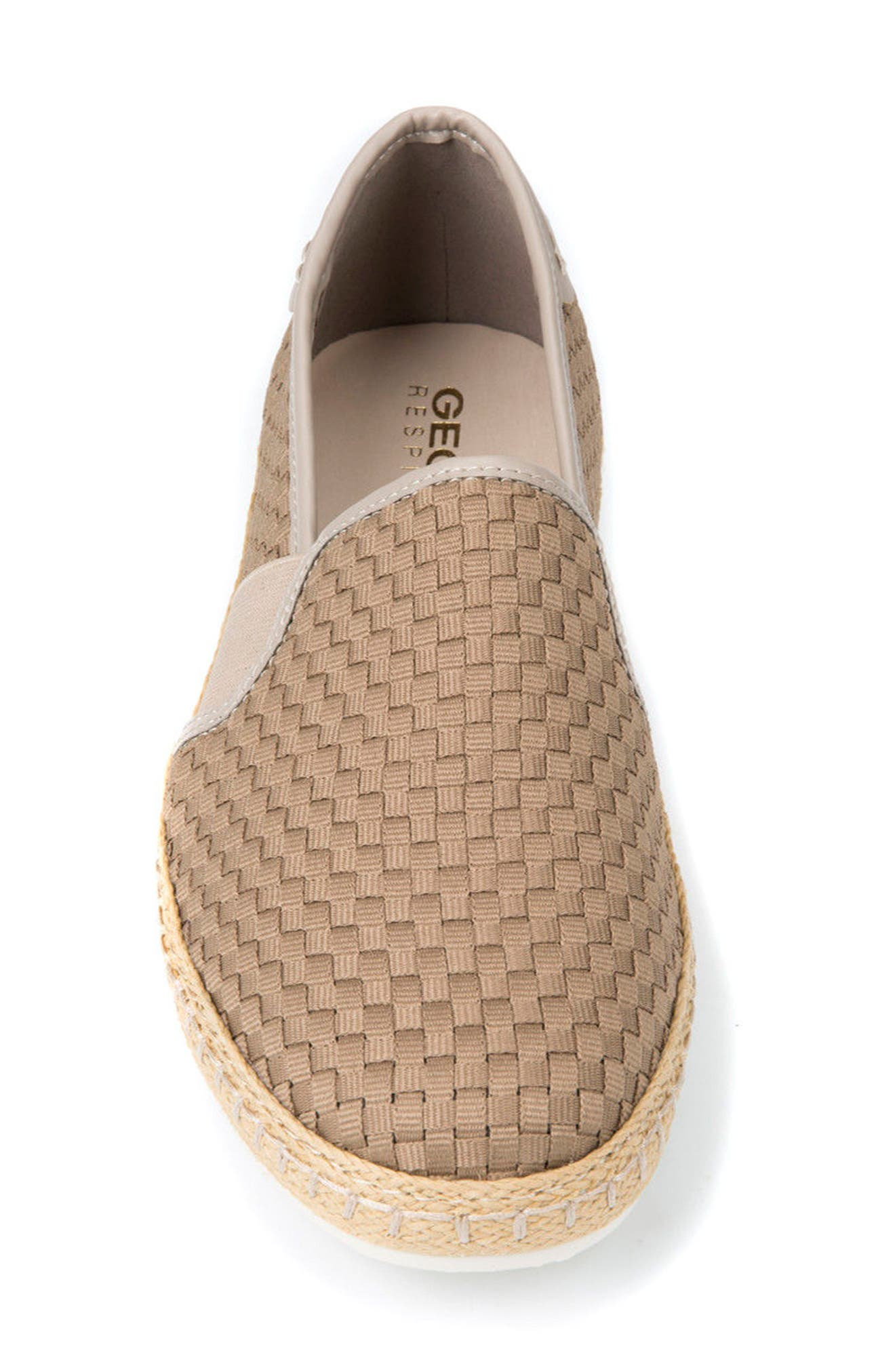 Copacaban 10 Woven Slip-On Sneaker,                             Alternate thumbnail 4, color,                             Sand
