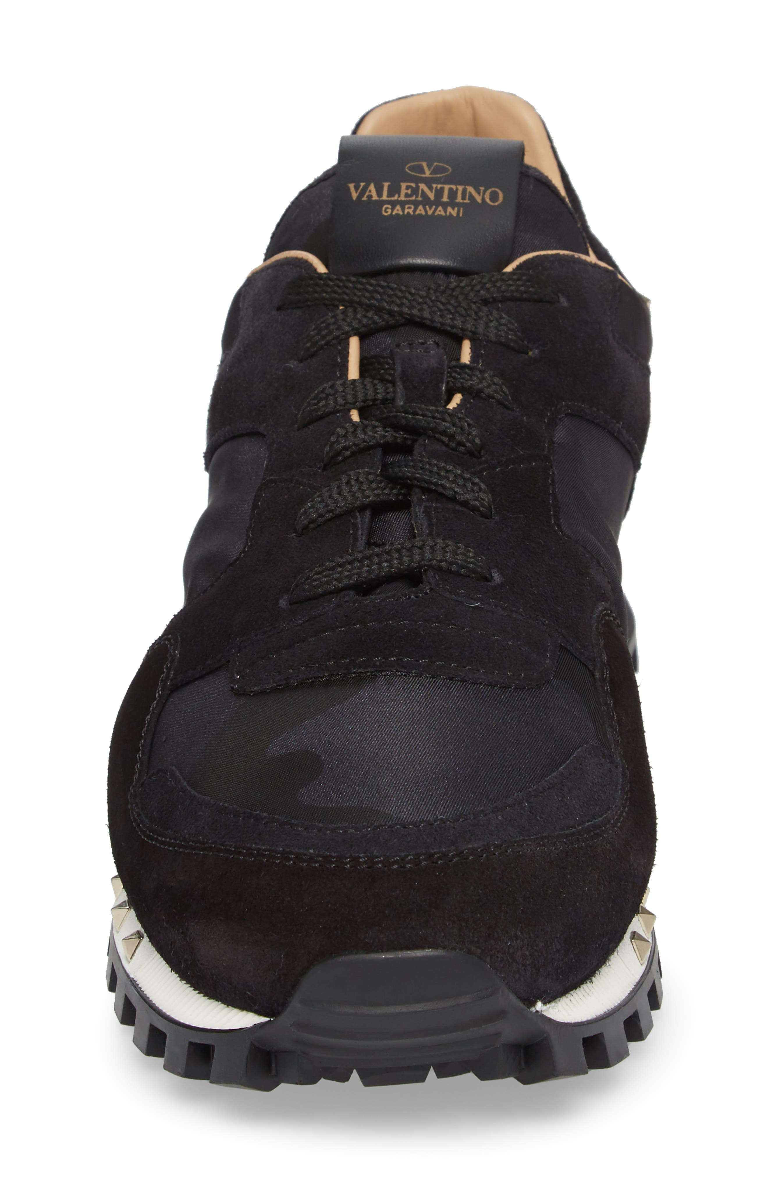 Alternate Image 4  - VALENTINO GARAVANI Camo Rockstud Sneaker (Men)