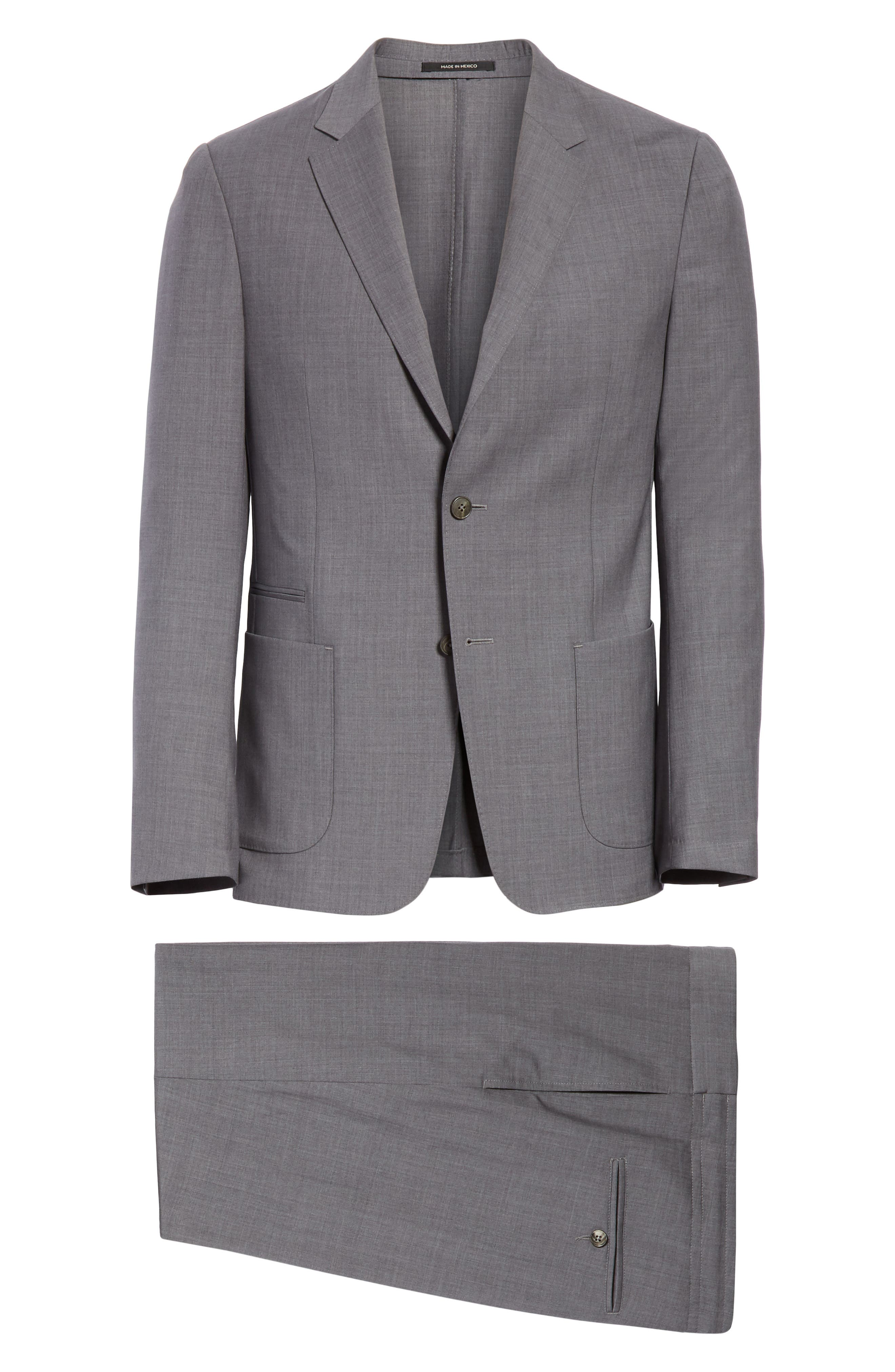 TECHMERINO<sup>™</sup> Wash & Go Trim Fit Solid Wool Suit,                             Alternate thumbnail 7, color,                             Solid Grey