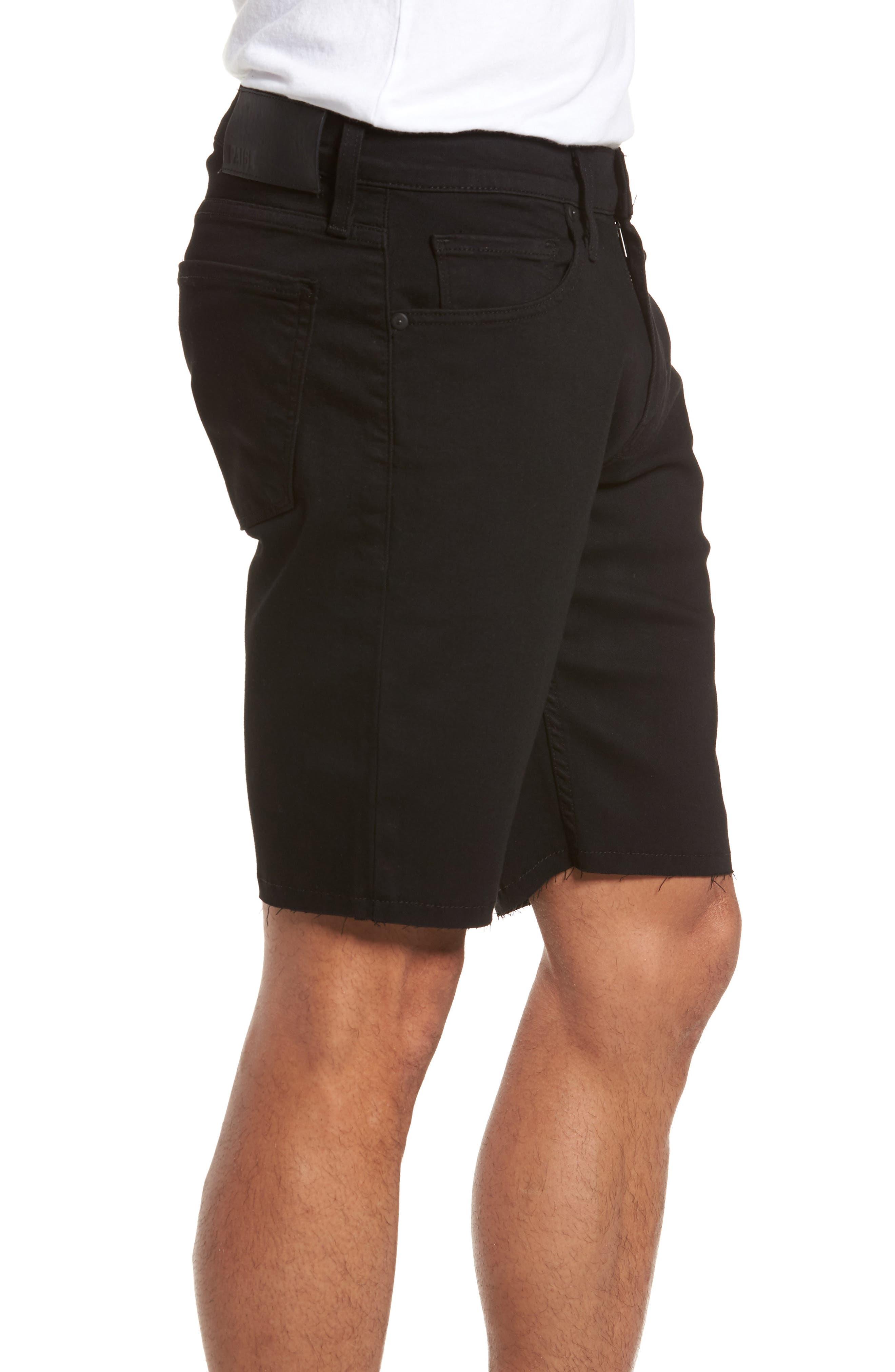 Alternate Image 3  - PAIGE Transcend - Federal Slim Straight Leg Denim Shorts (Black Shadow)