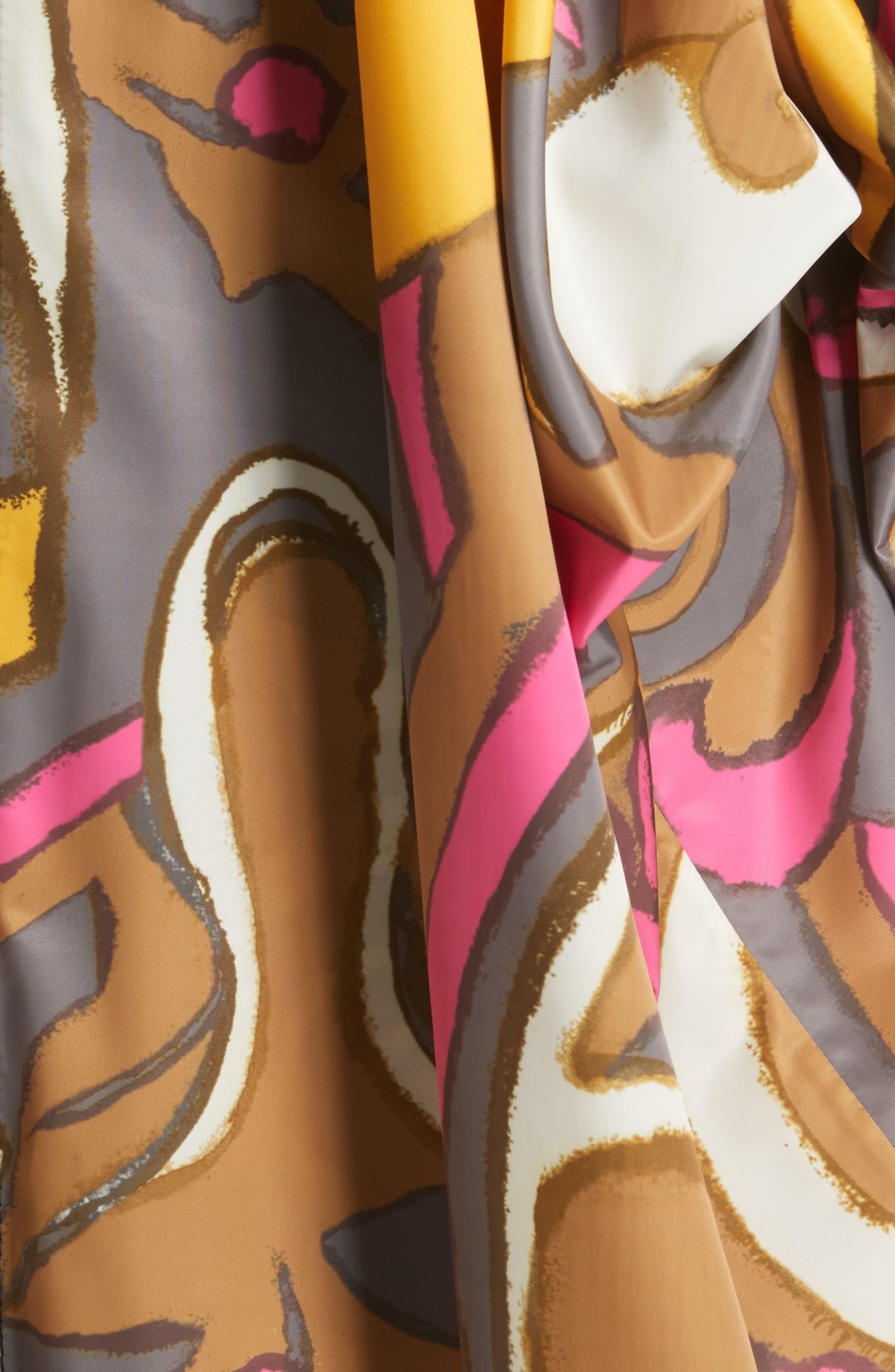 Retro Print Oversize Coat,                             Alternate thumbnail 6, color,                             Grey Multi