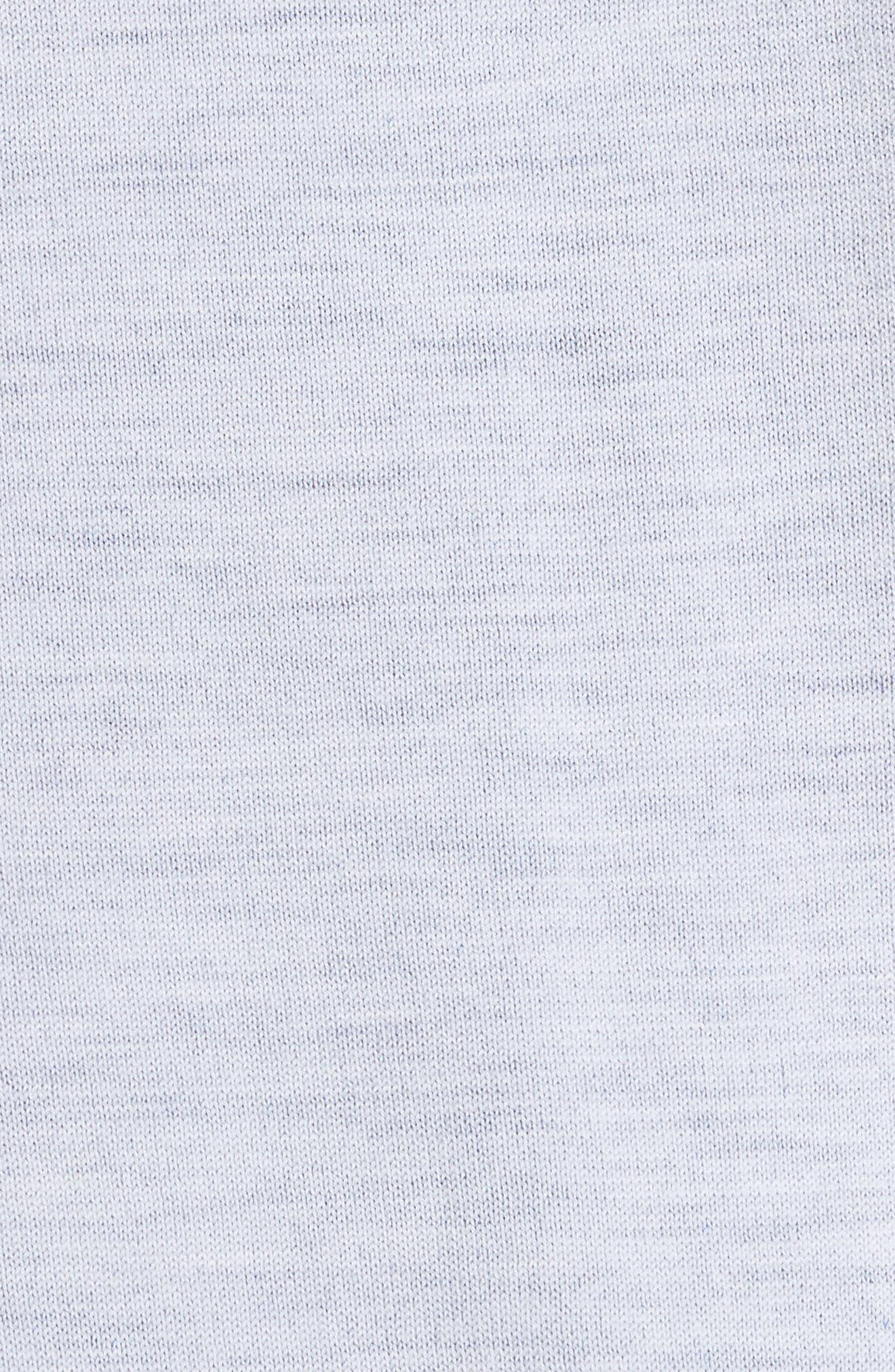 Florence V-Neck Cardigan,                             Alternate thumbnail 5, color,                             Off White/ Blue