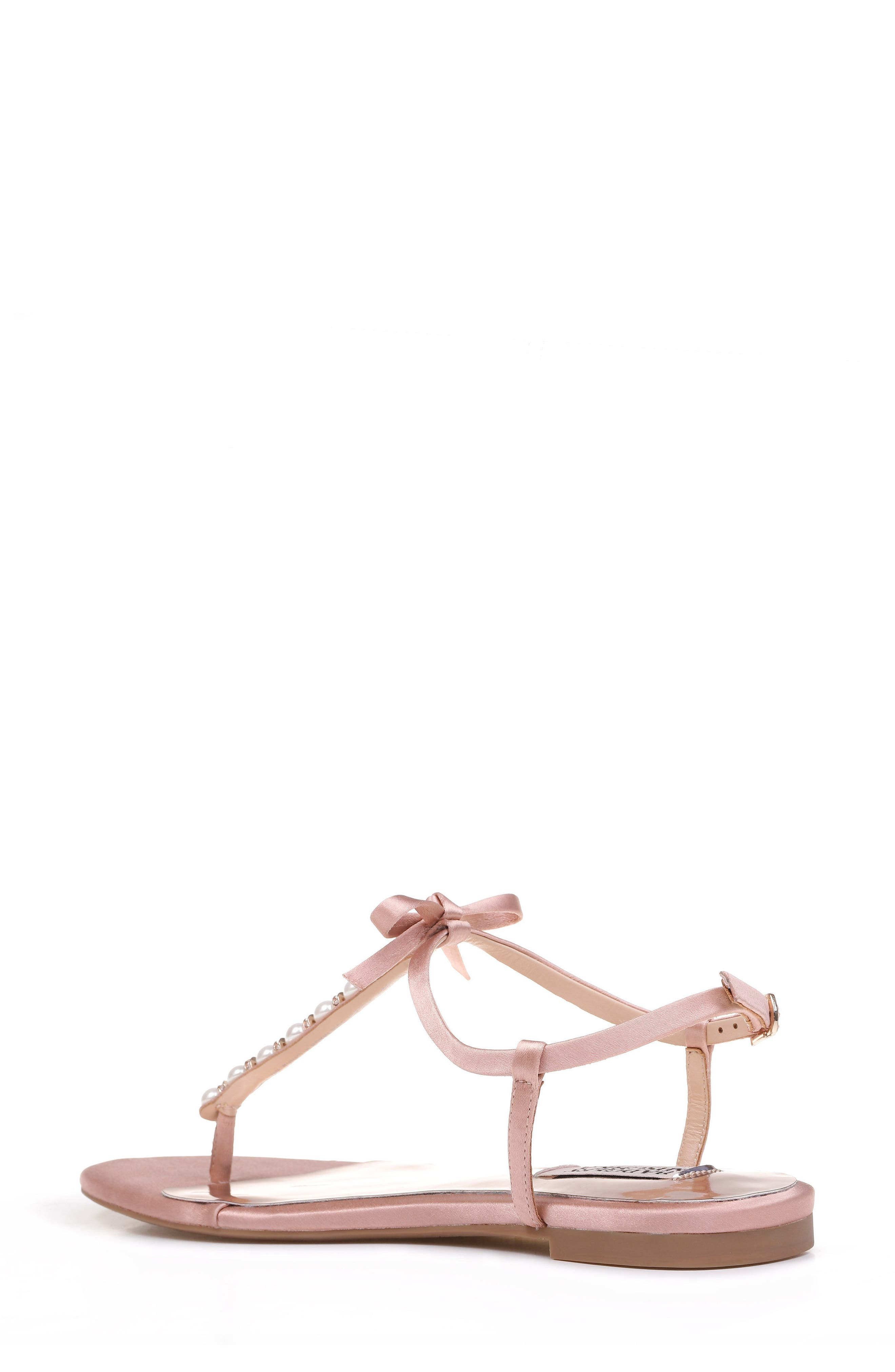 Honey Embellished Sandal,                             Alternate thumbnail 2, color,                             Dark Pink Satin
