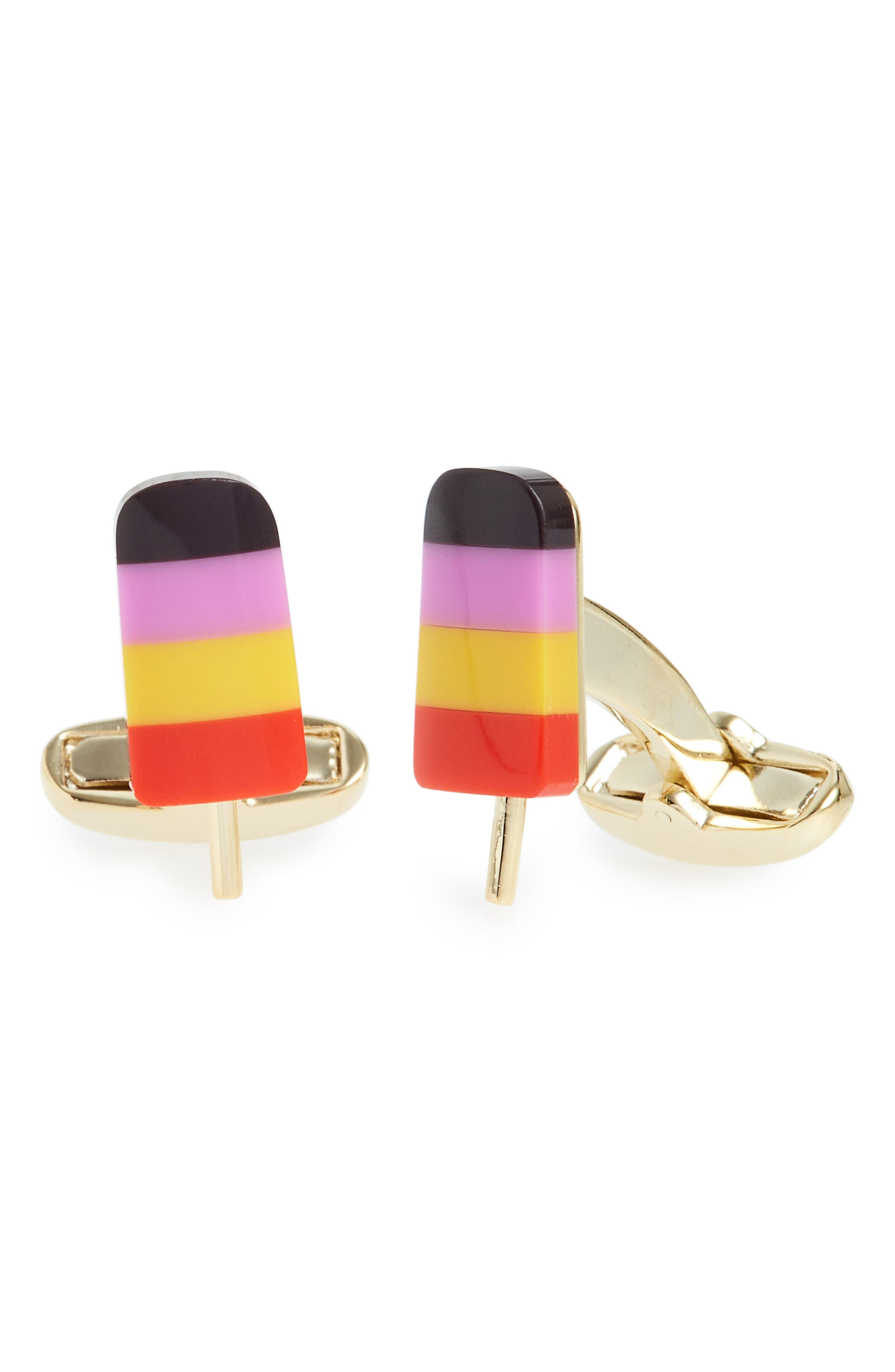 Popsicle Cuff Links,                         Main,                         color, Mixed Plating 1