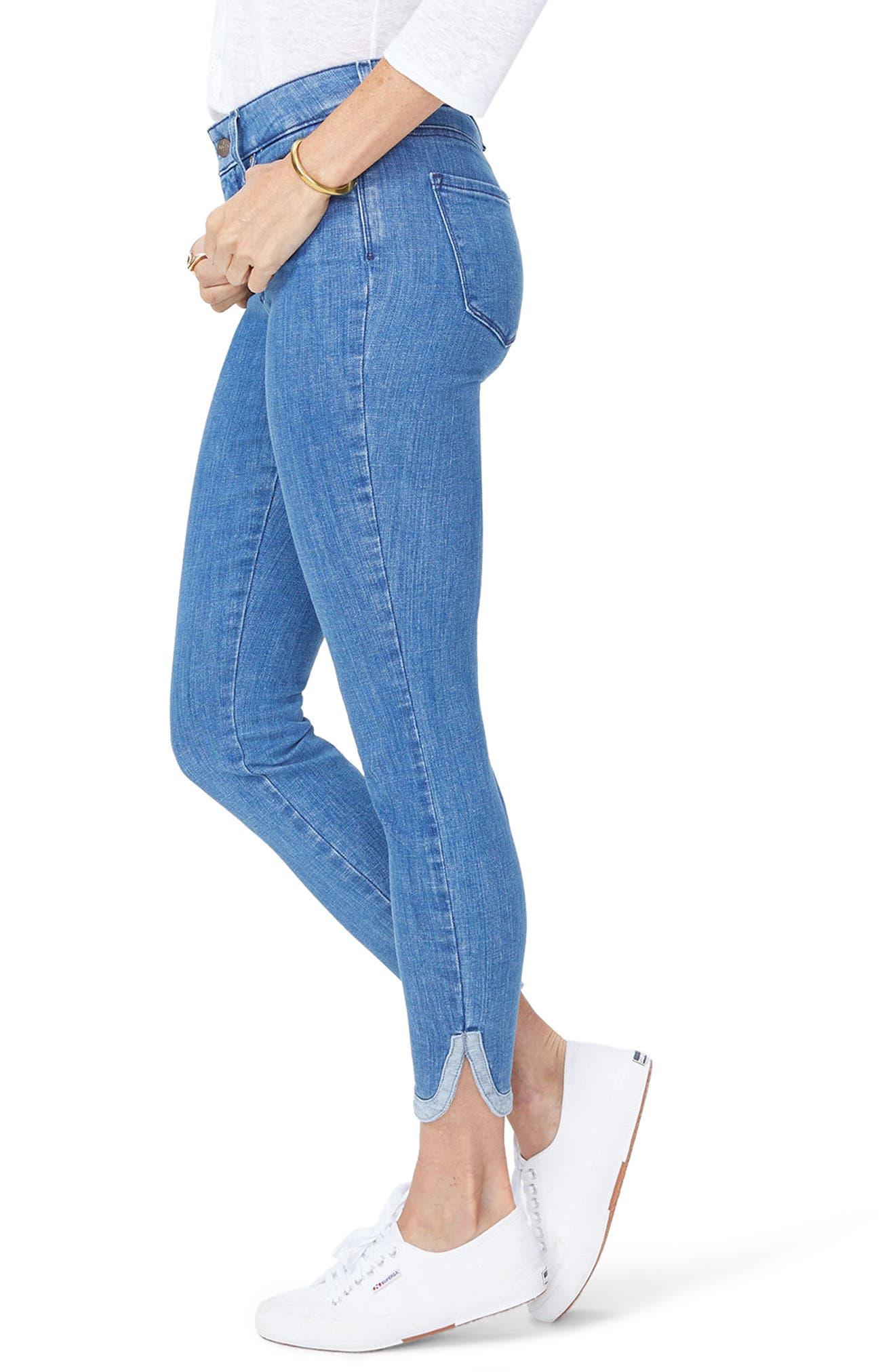 Ami Side Slit Ankle Skinny Jeans,                             Alternate thumbnail 3, color,                             Bliss