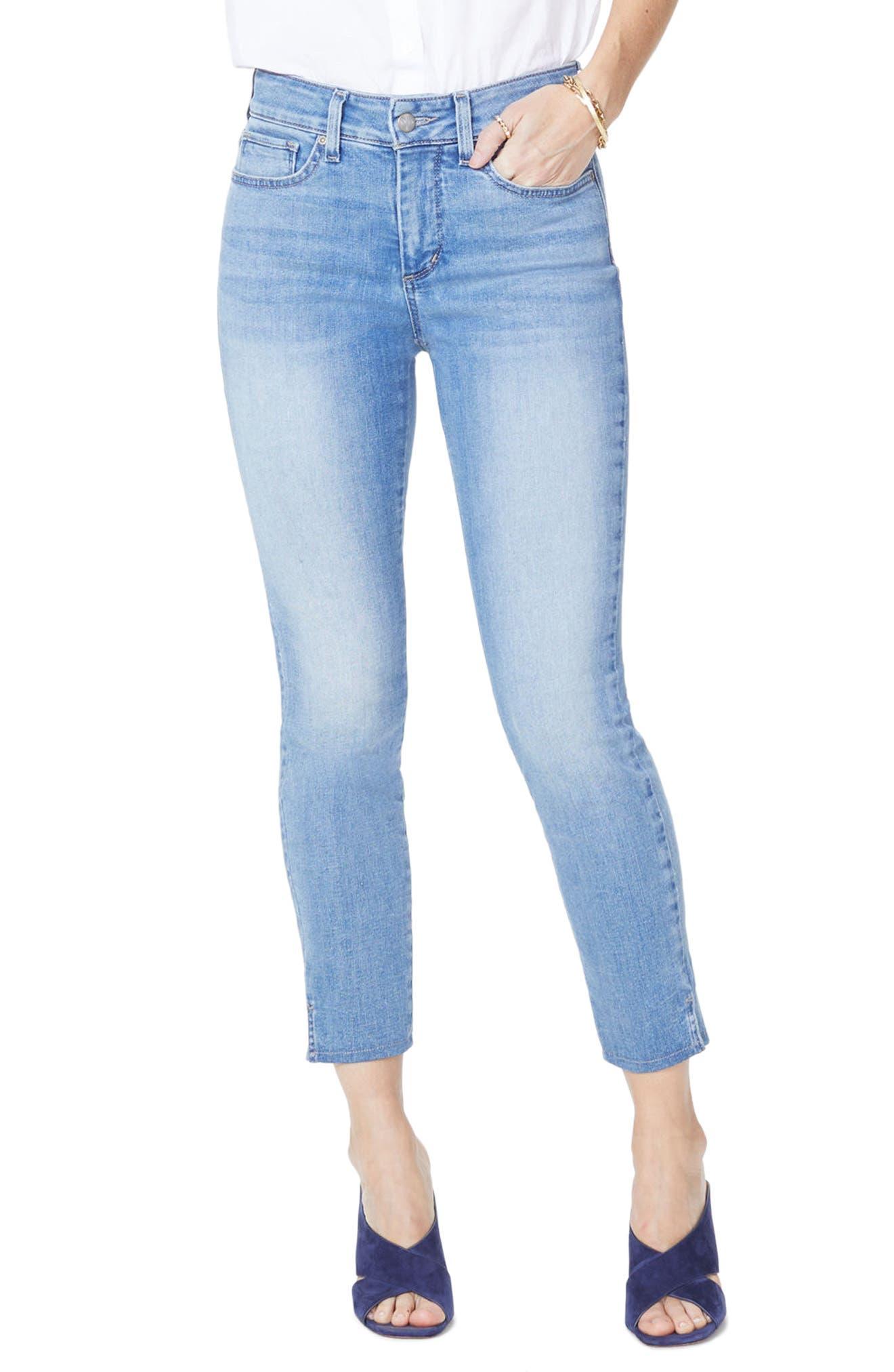 NYDJ Ami Side Slit Stretch Ankle Skinny Jeans (Dreamstate)