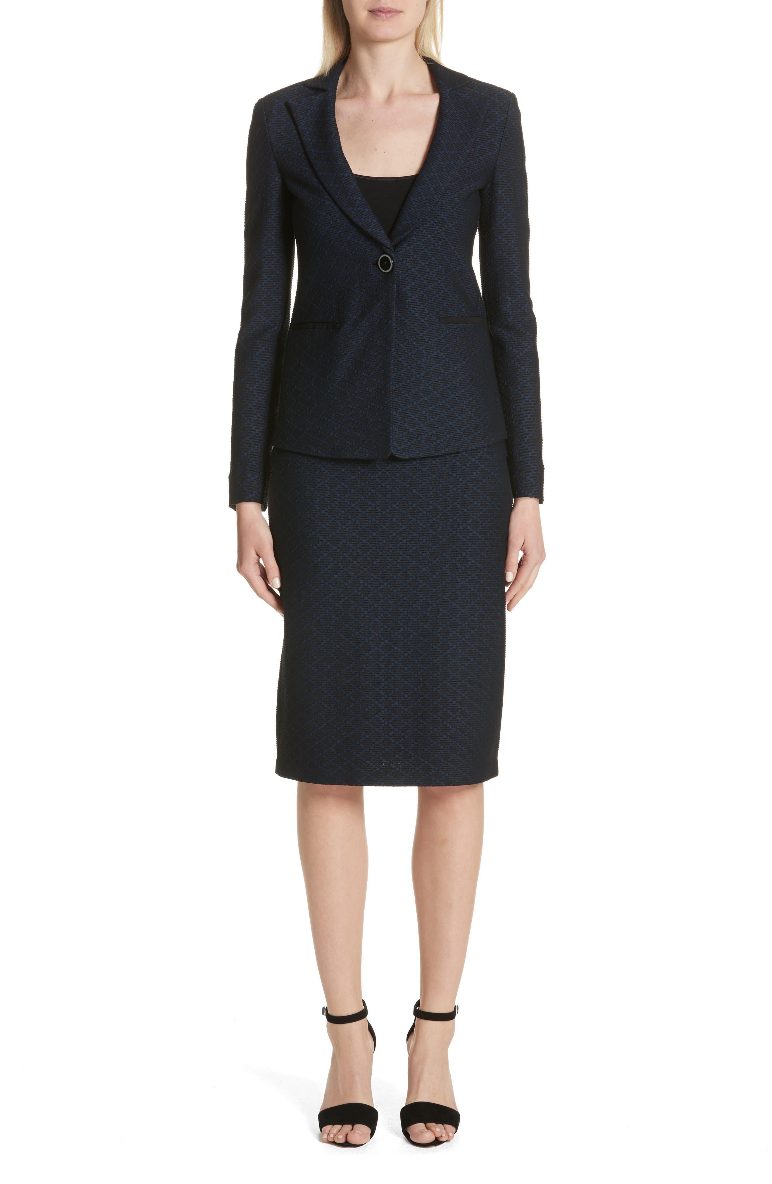 Alternate Image 7  - Emporio Armani Diamond Knit Jacquard Pencil Skirt
