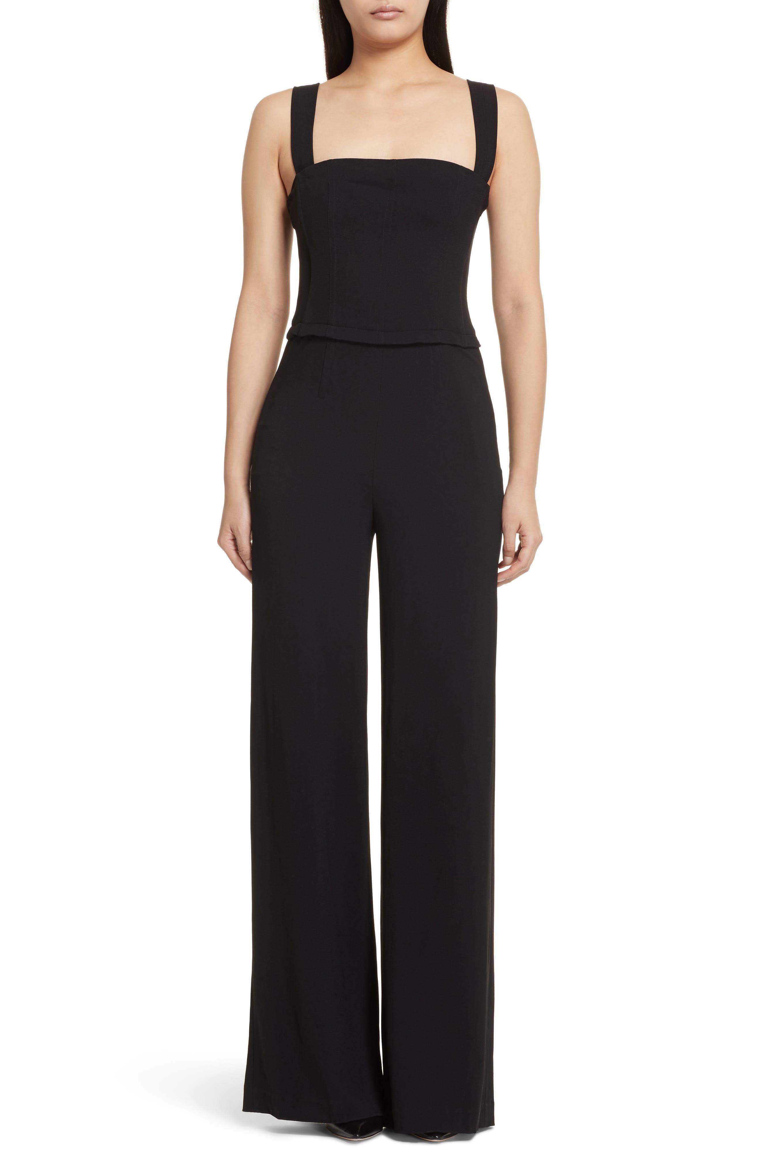 Rosina Bustier Crepe Jumpsuit,                         Main,                         color, Black