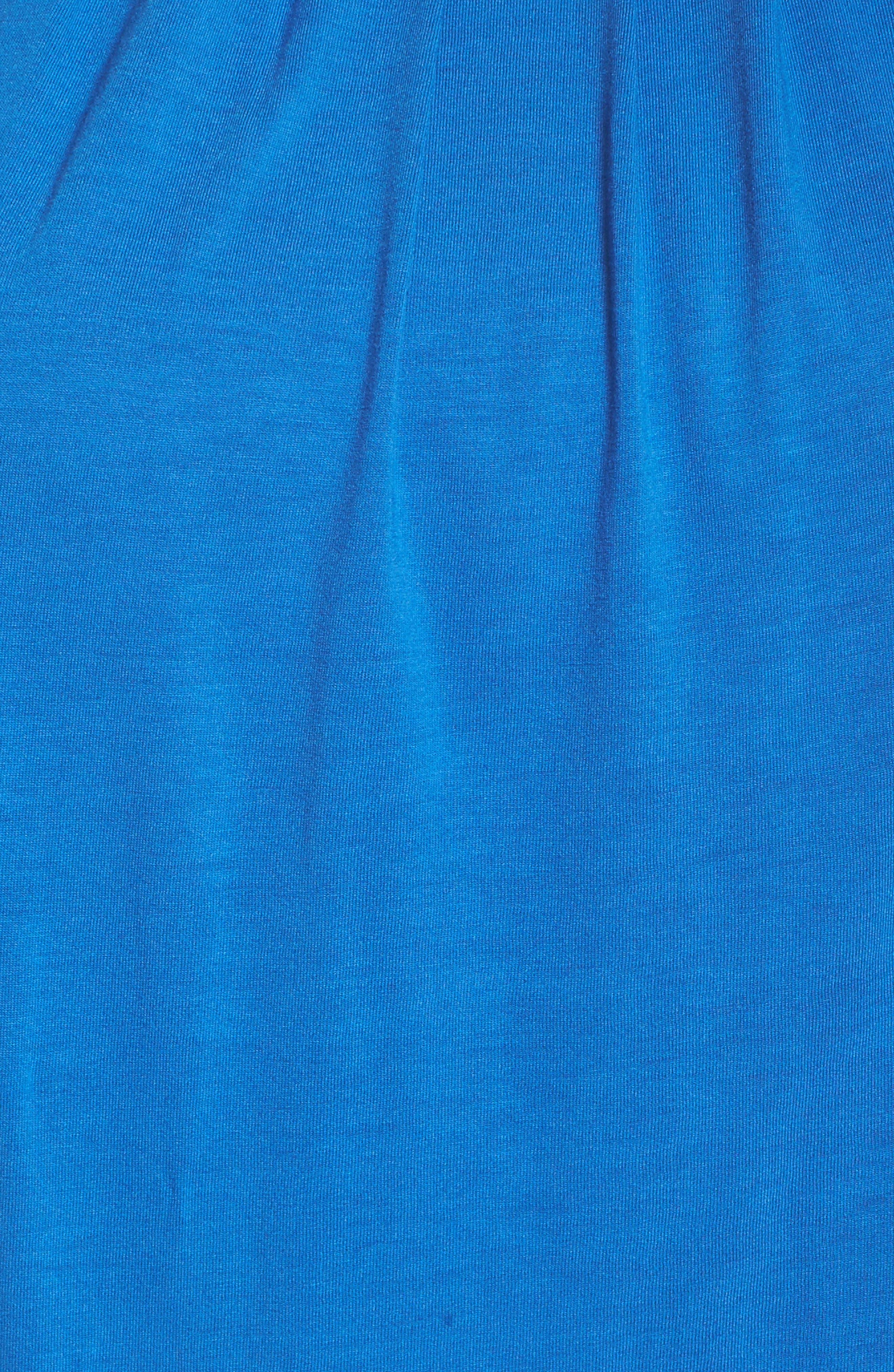 Pleated Cap Sleeve Tee,                             Alternate thumbnail 5, color,                             Blue Nautical