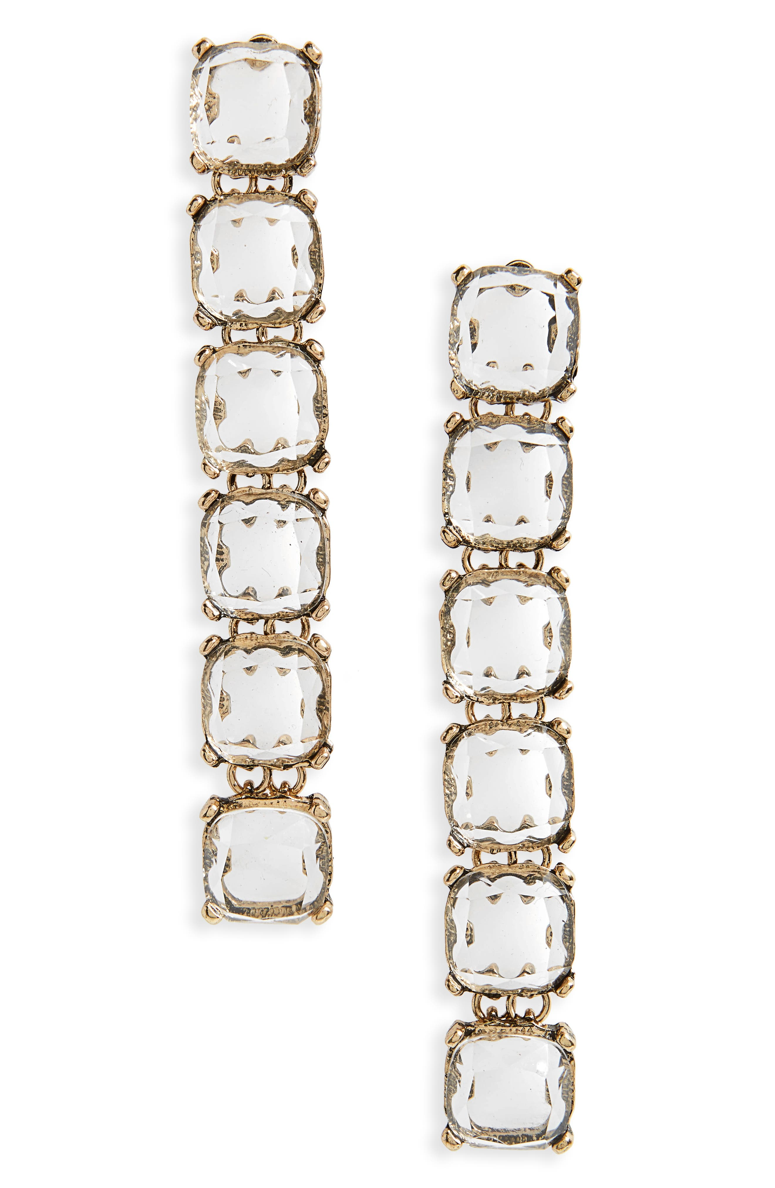 Isadora Linear Drop Earrings,                         Main,                         color, Yellow Gold