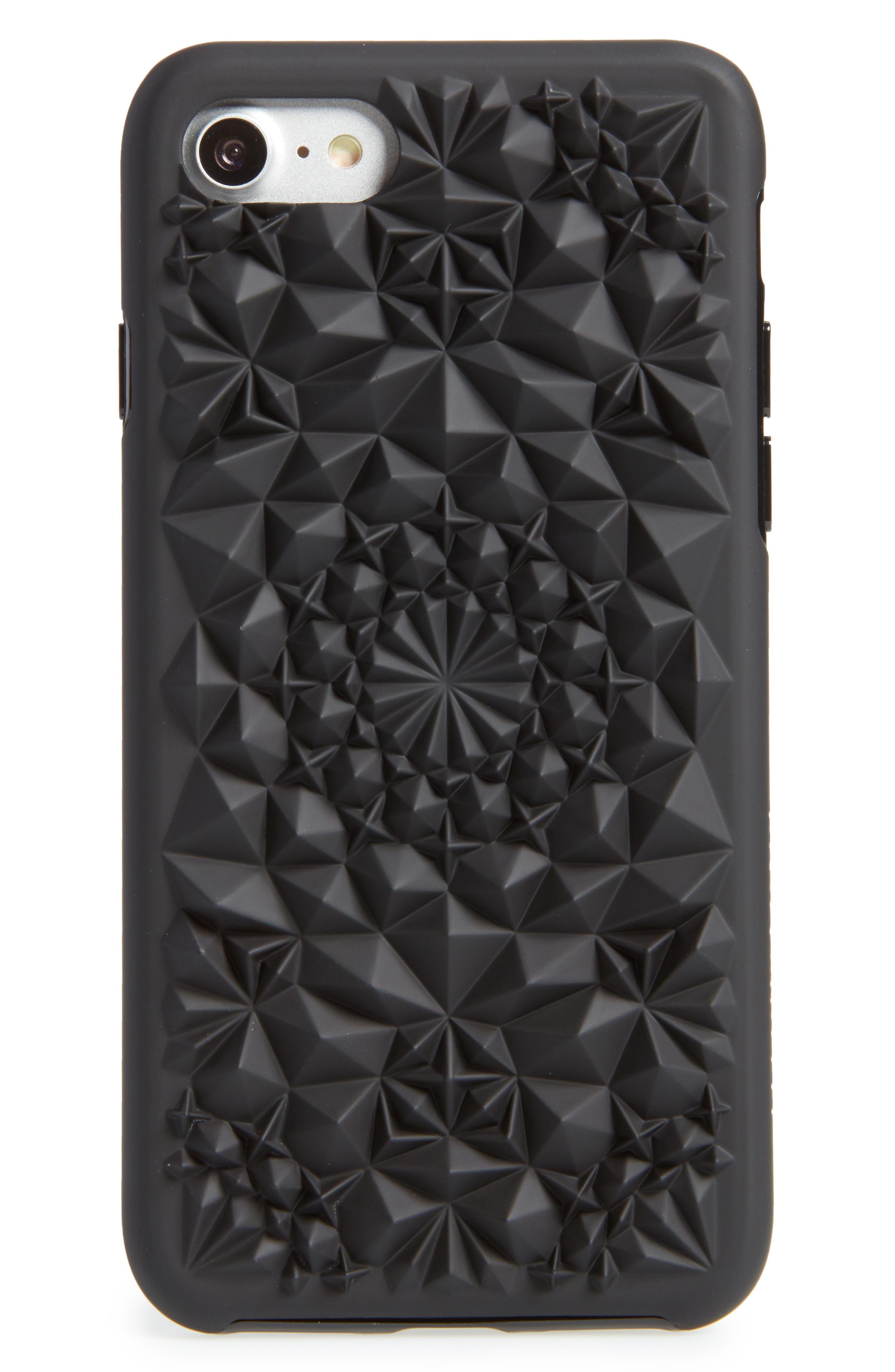 Matte Kaleidoscope iPhone 7/8 & 7/8 Plus Case,                             Main thumbnail 1, color,                             Black