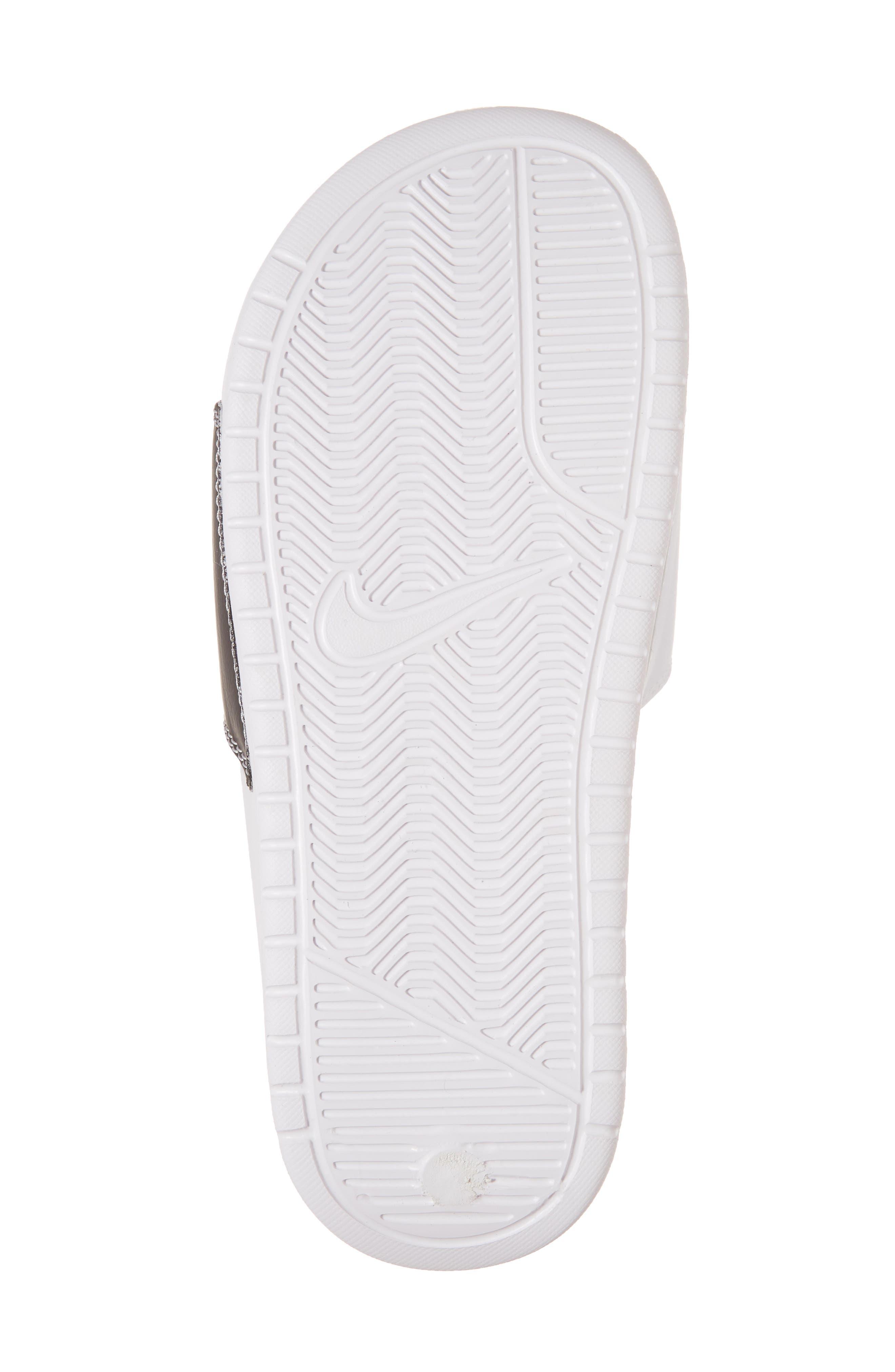 Benassi JDI Slide Sandal,                             Alternate thumbnail 6, color,                             White/ Pure Platinum