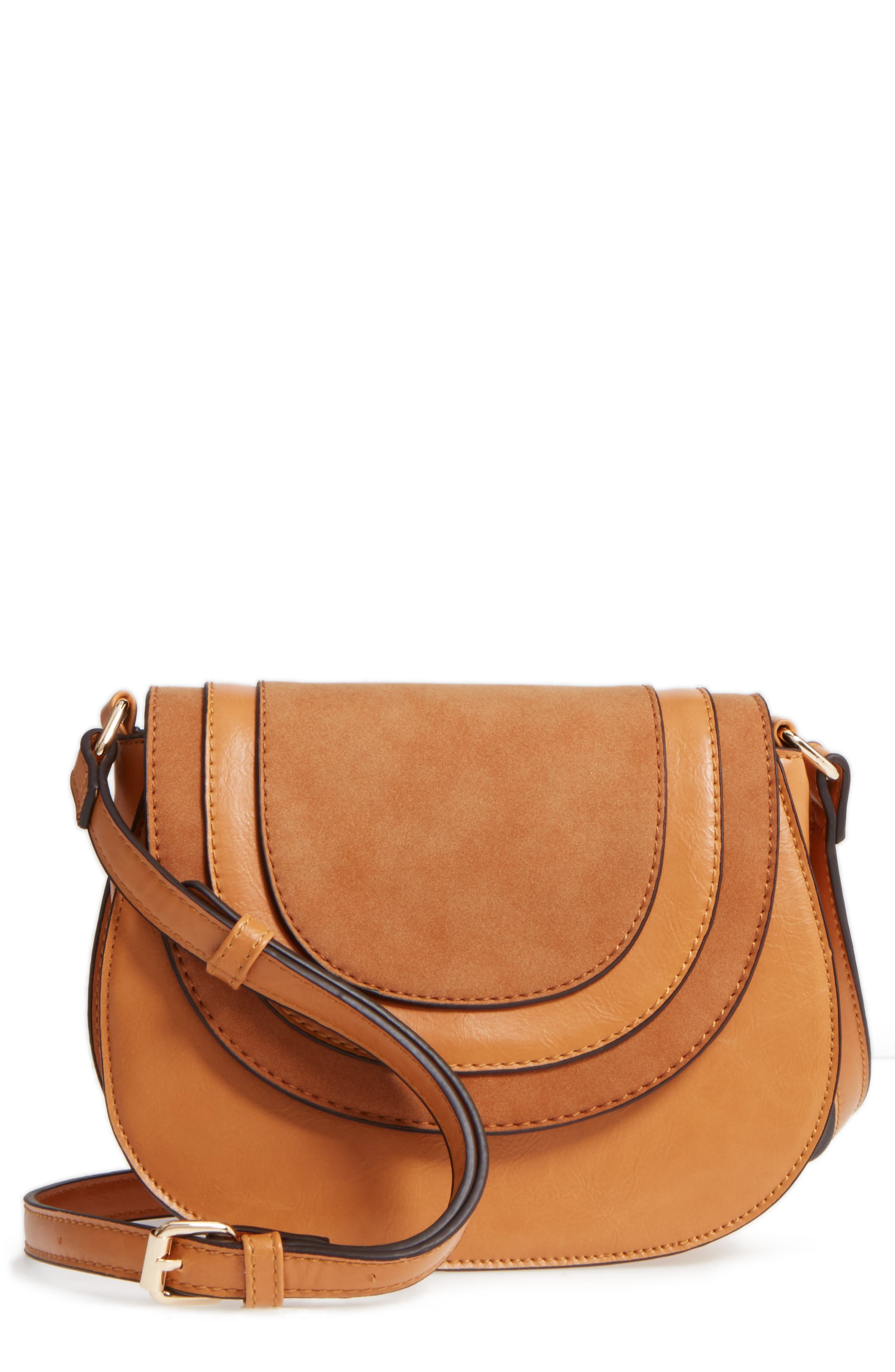 Alternate Image 1 Selected - Sole Society Bryson Faux Leather Crossbody Bag