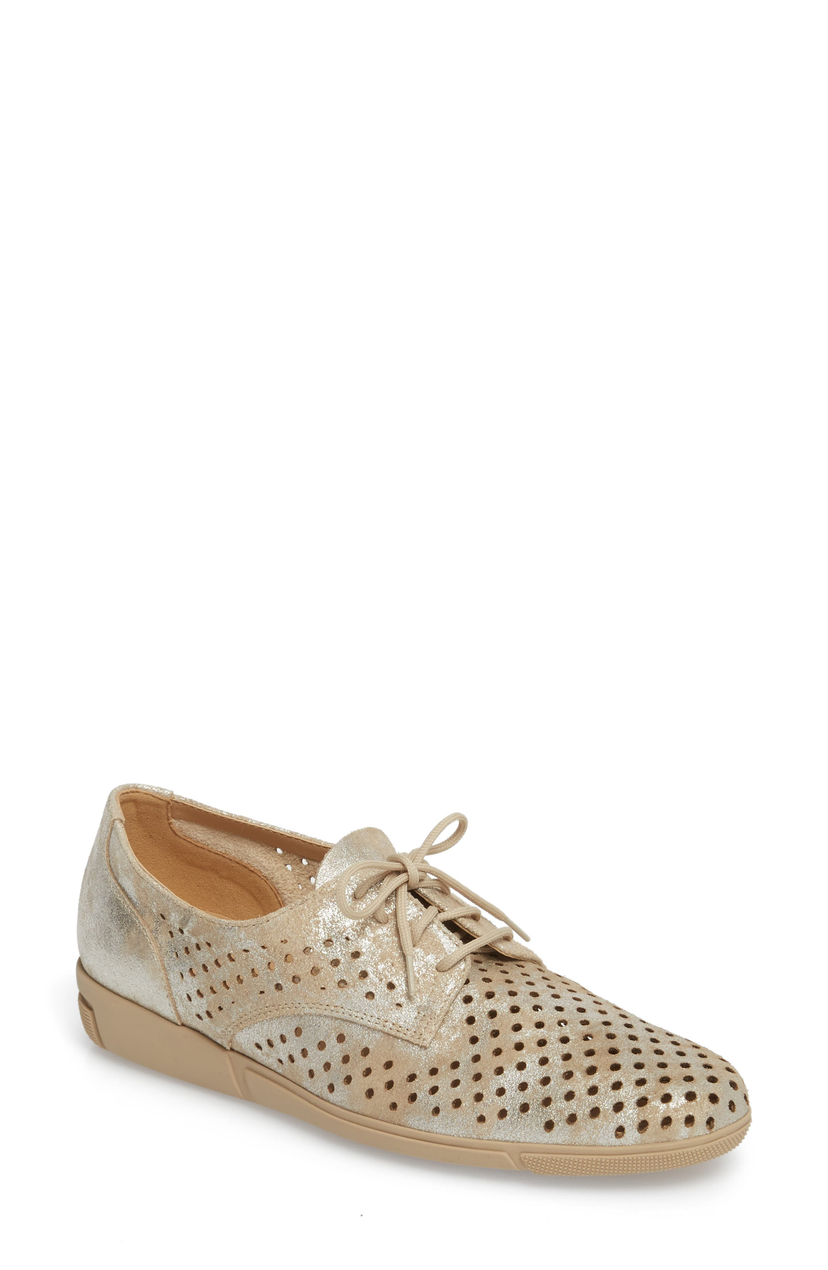 DIRCE PERFORATED OXFORD FLAT