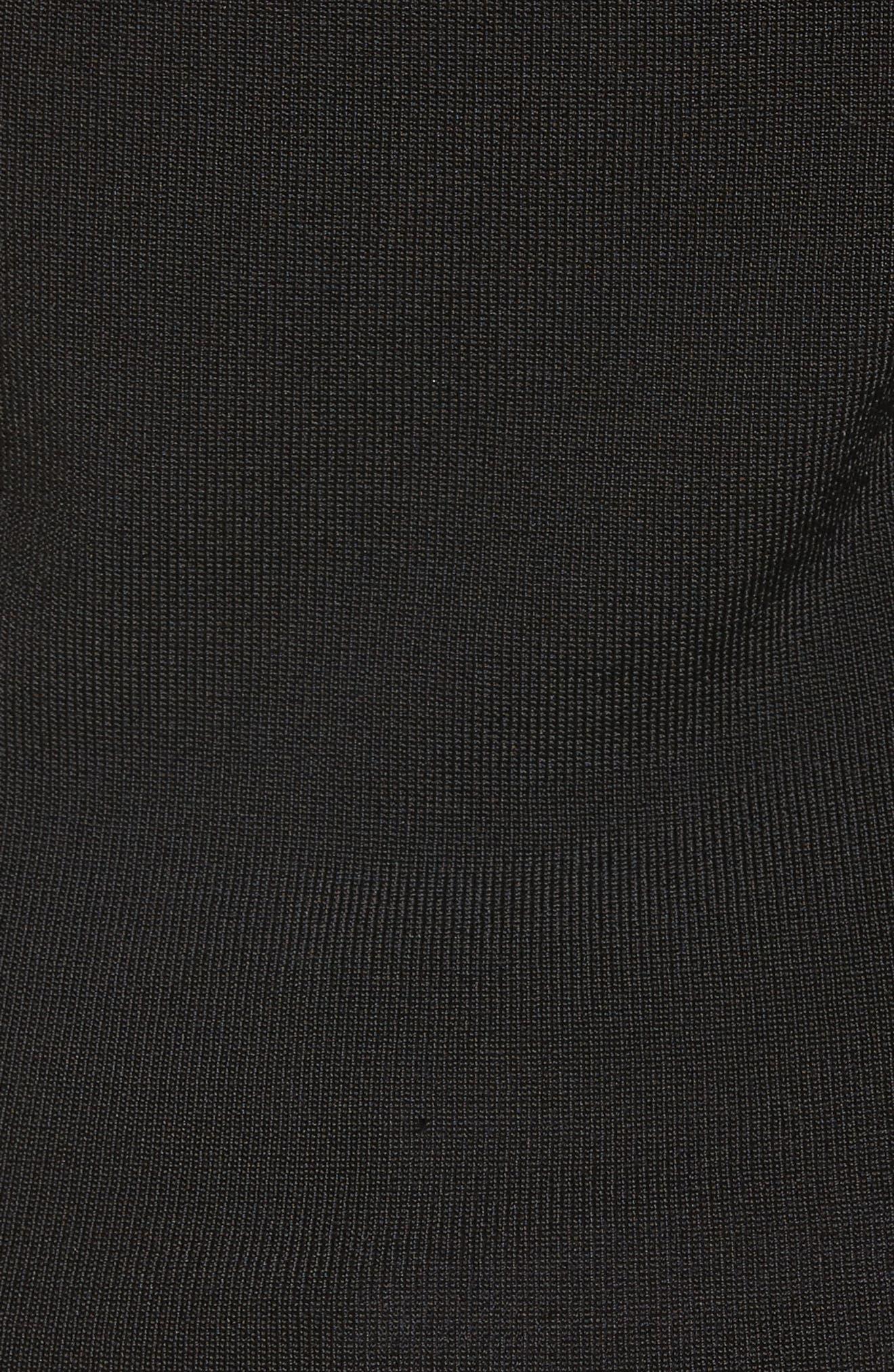 Cascading Ruffle One-Shoulder Top,                             Alternate thumbnail 5, color,                             Black