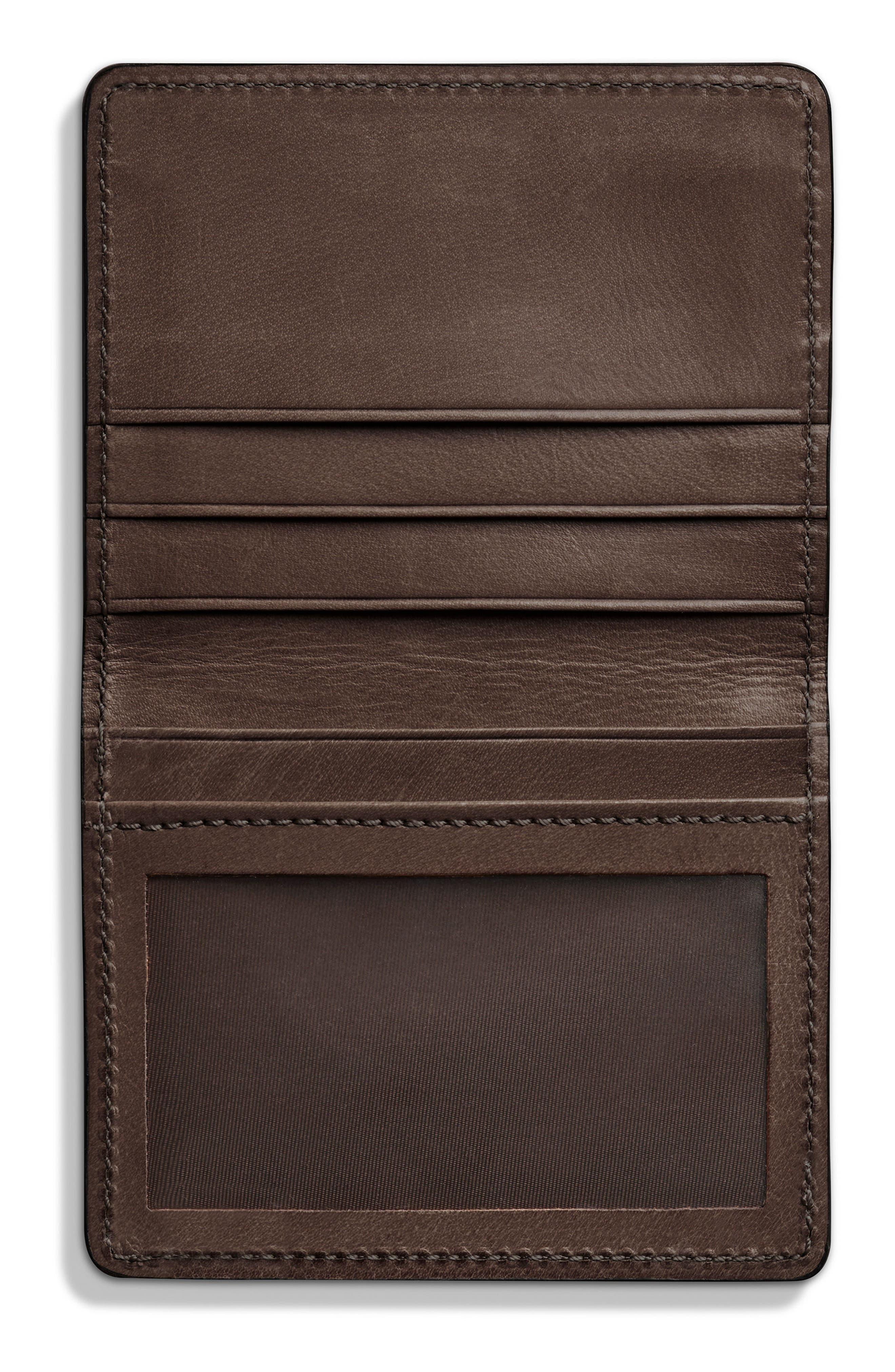 Outlaw Folding Card Case,                             Alternate thumbnail 2, color,                             Deep Brown