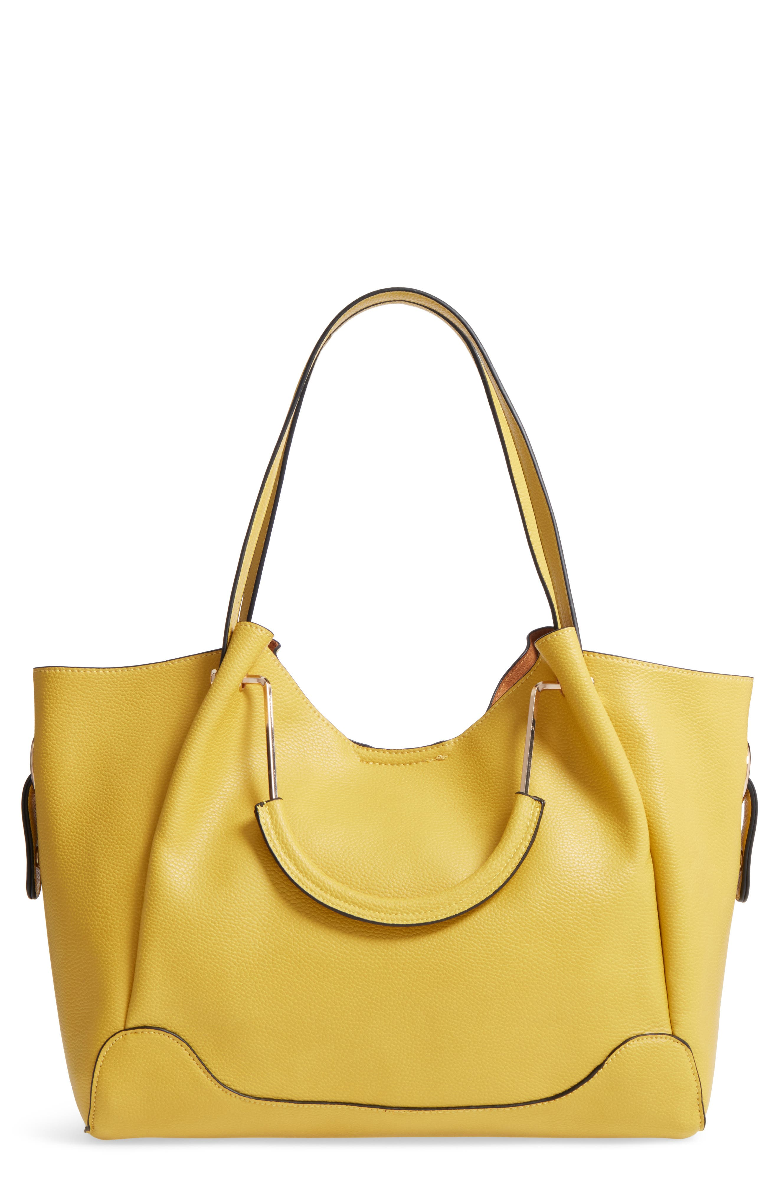 Alternate Image 1 Selected - Sondra Roberts Faux Leather Satchel
