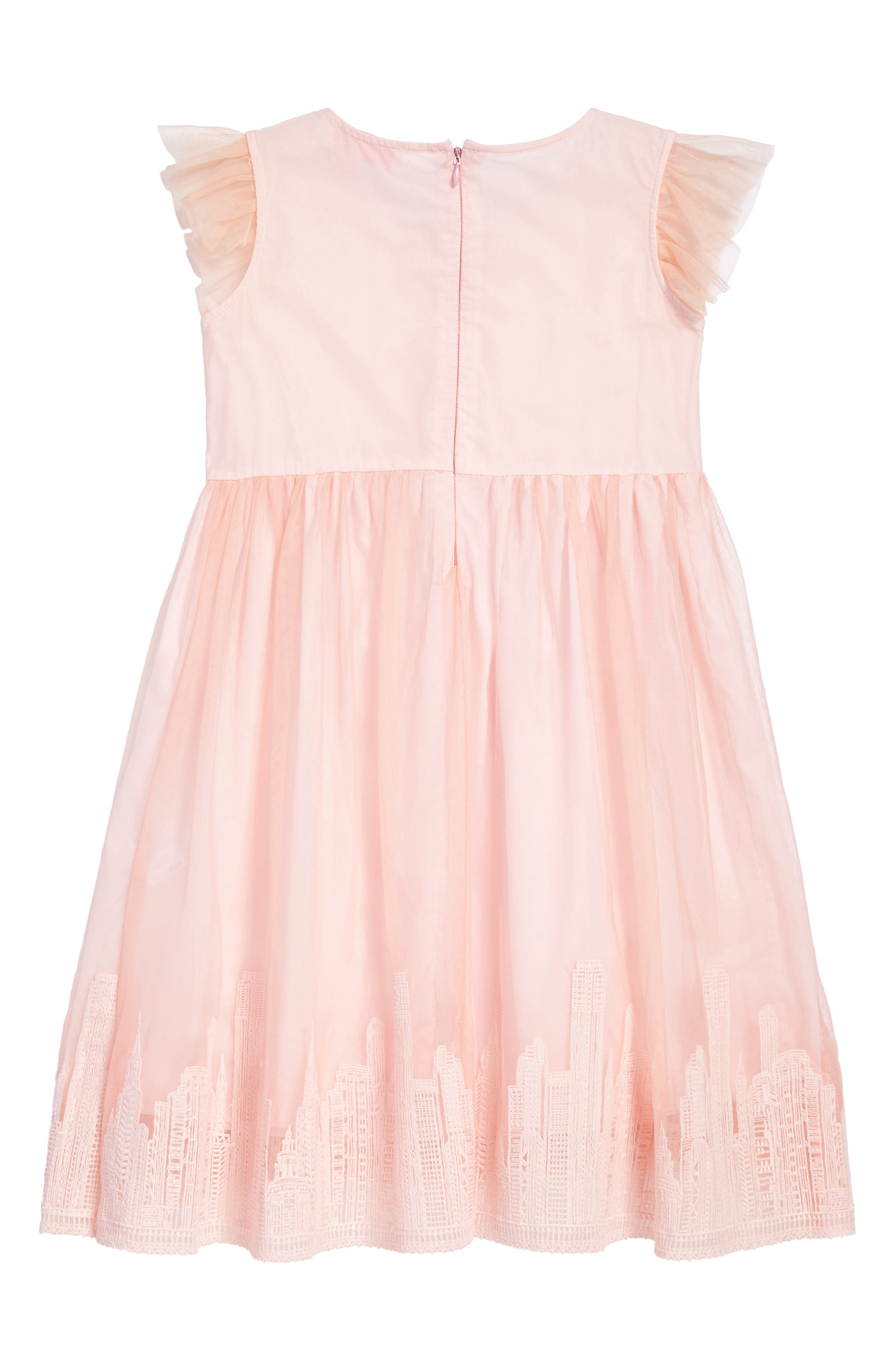 Embroidered Tulle Dress,                             Alternate thumbnail 2, color,                             Pink