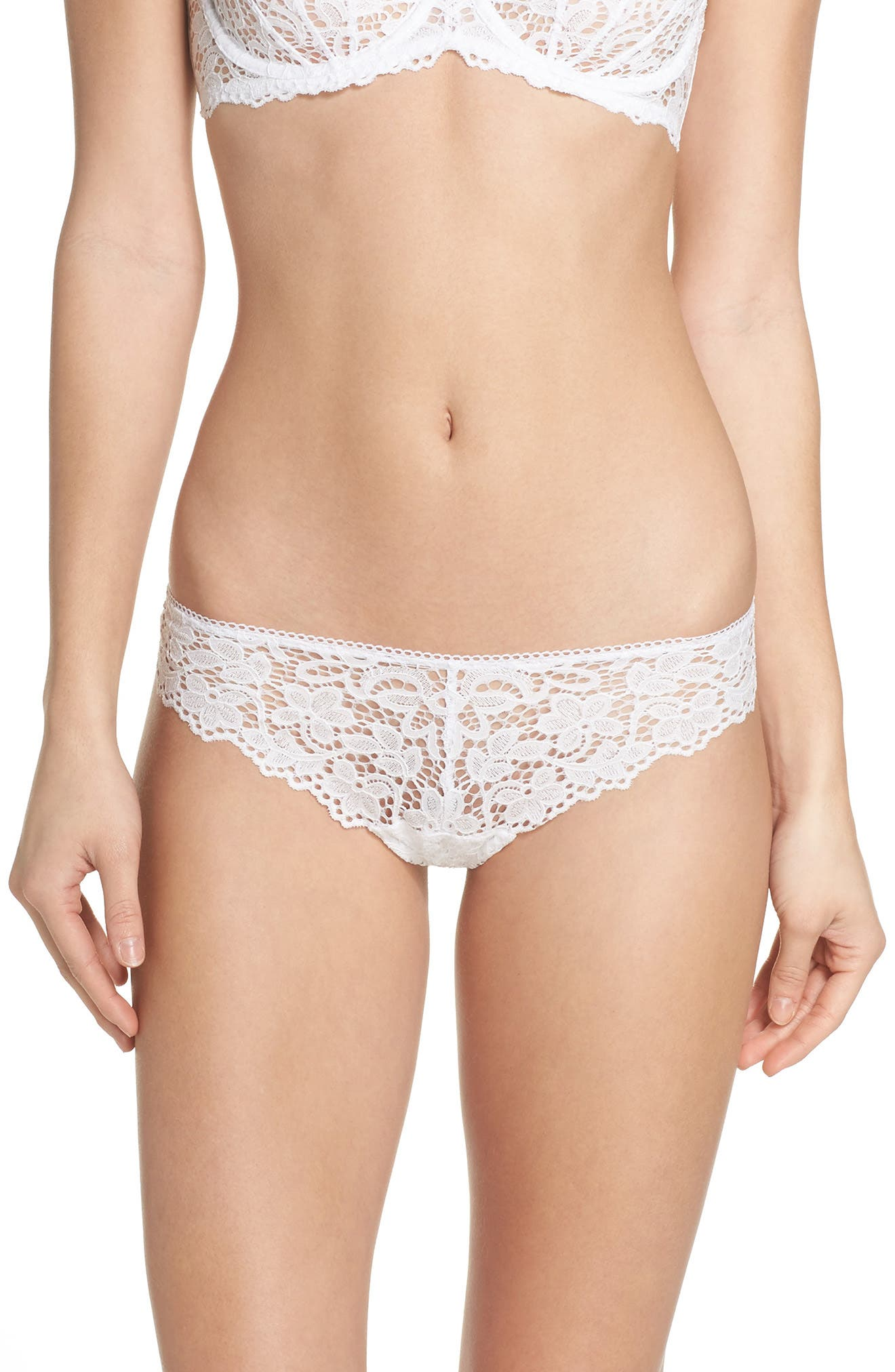 Lace Thong,                         Main,                         color, Poplin White