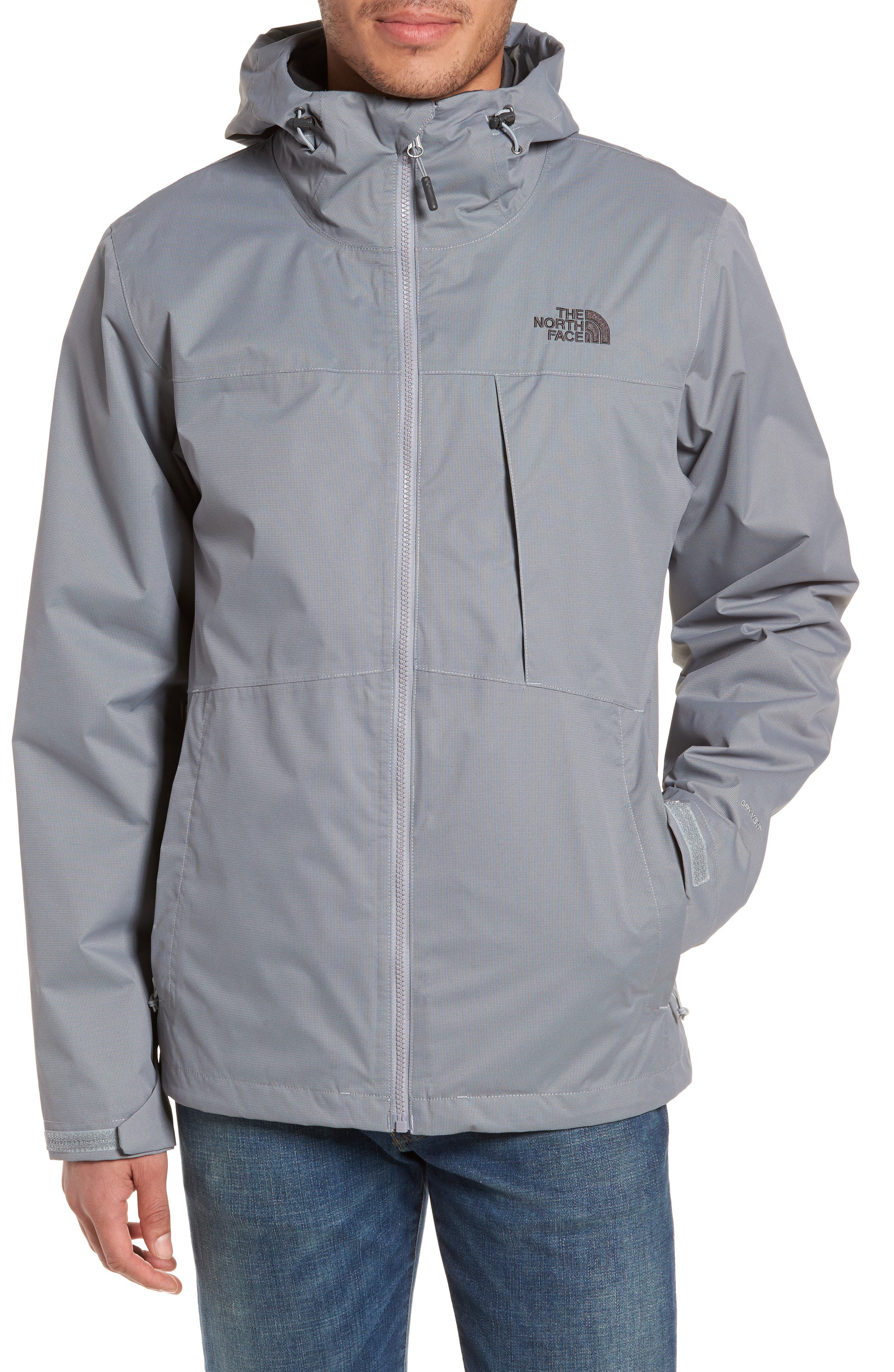 'Arrowood' TriClimate<sup>®</sup> 3-in-1 Jacket,                             Alternate thumbnail 4, color,                             Mid Grey