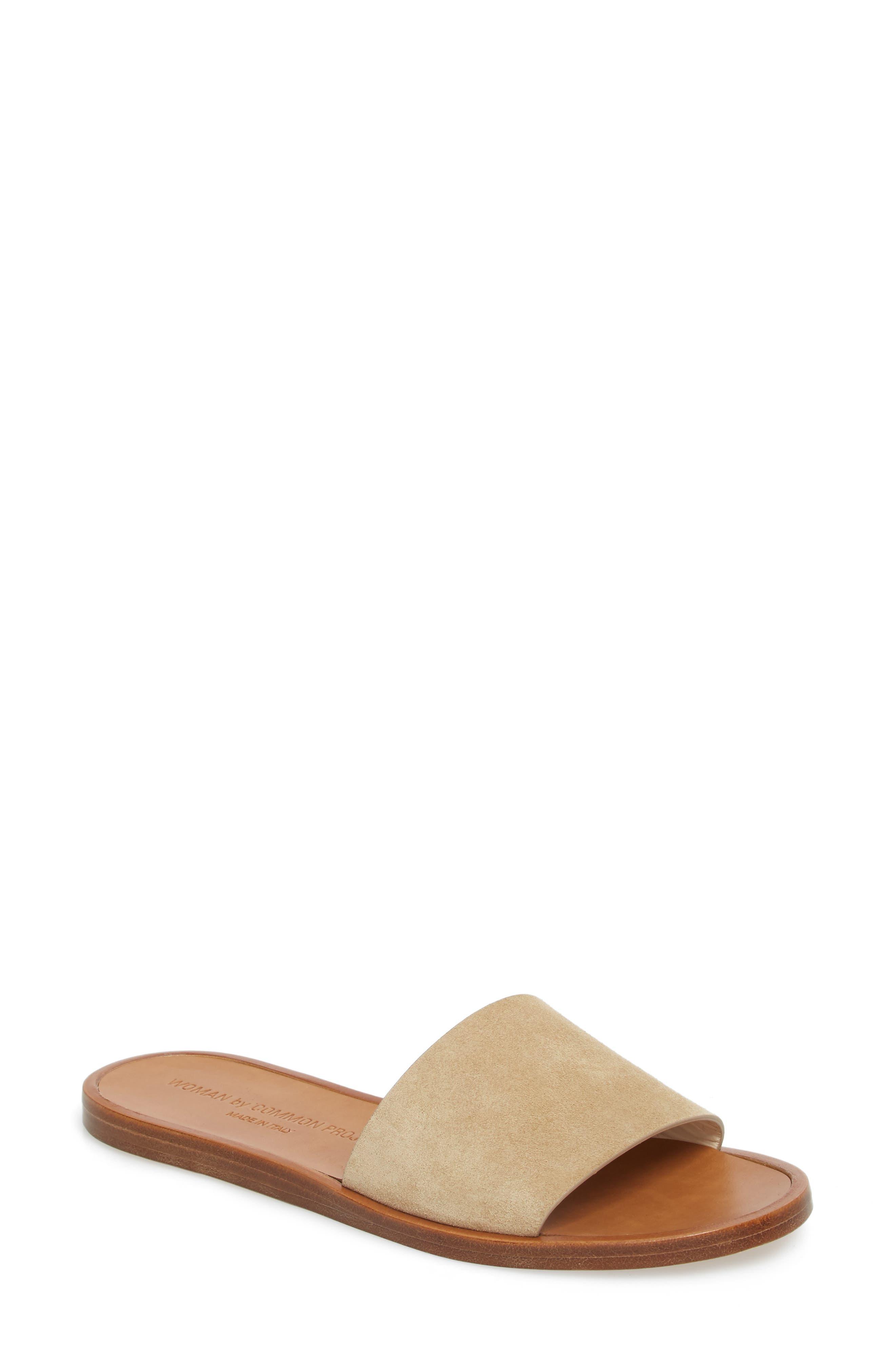 Slide Sandal,                             Main thumbnail 1, color,                             Tan