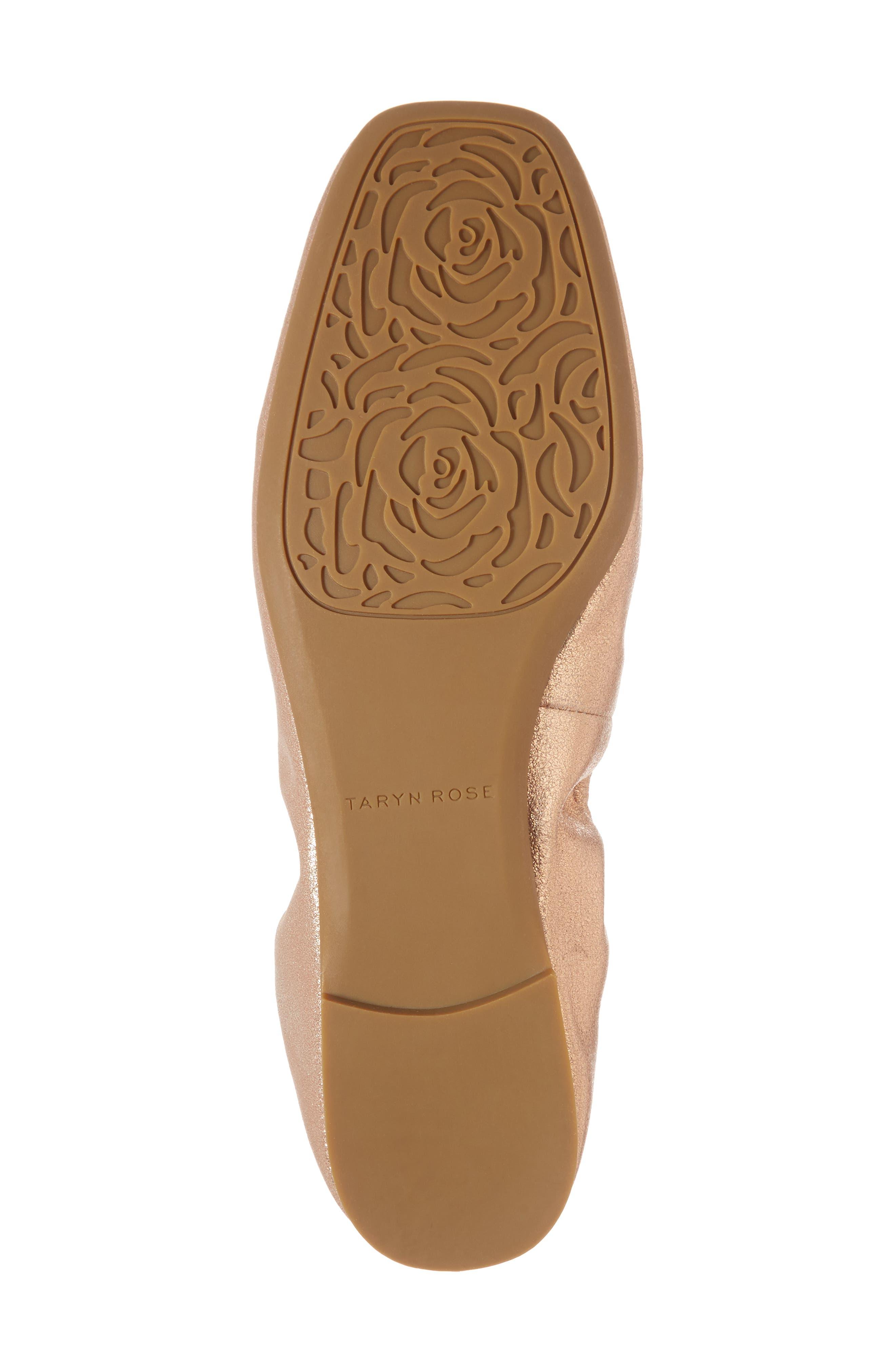Rosalyn Ballet Flat,                             Alternate thumbnail 6, color,                             Rose Gold Leather
