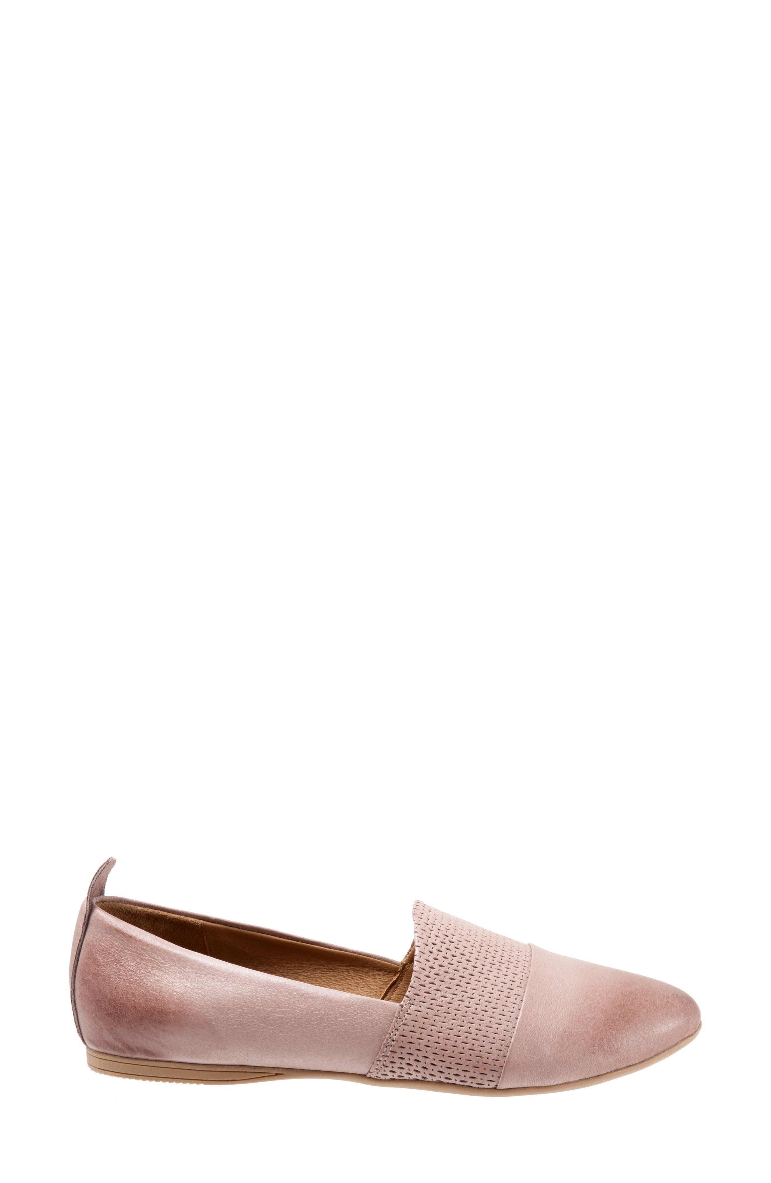 Katy Flat,                             Alternate thumbnail 3, color,                             Dusty Mauve Leather