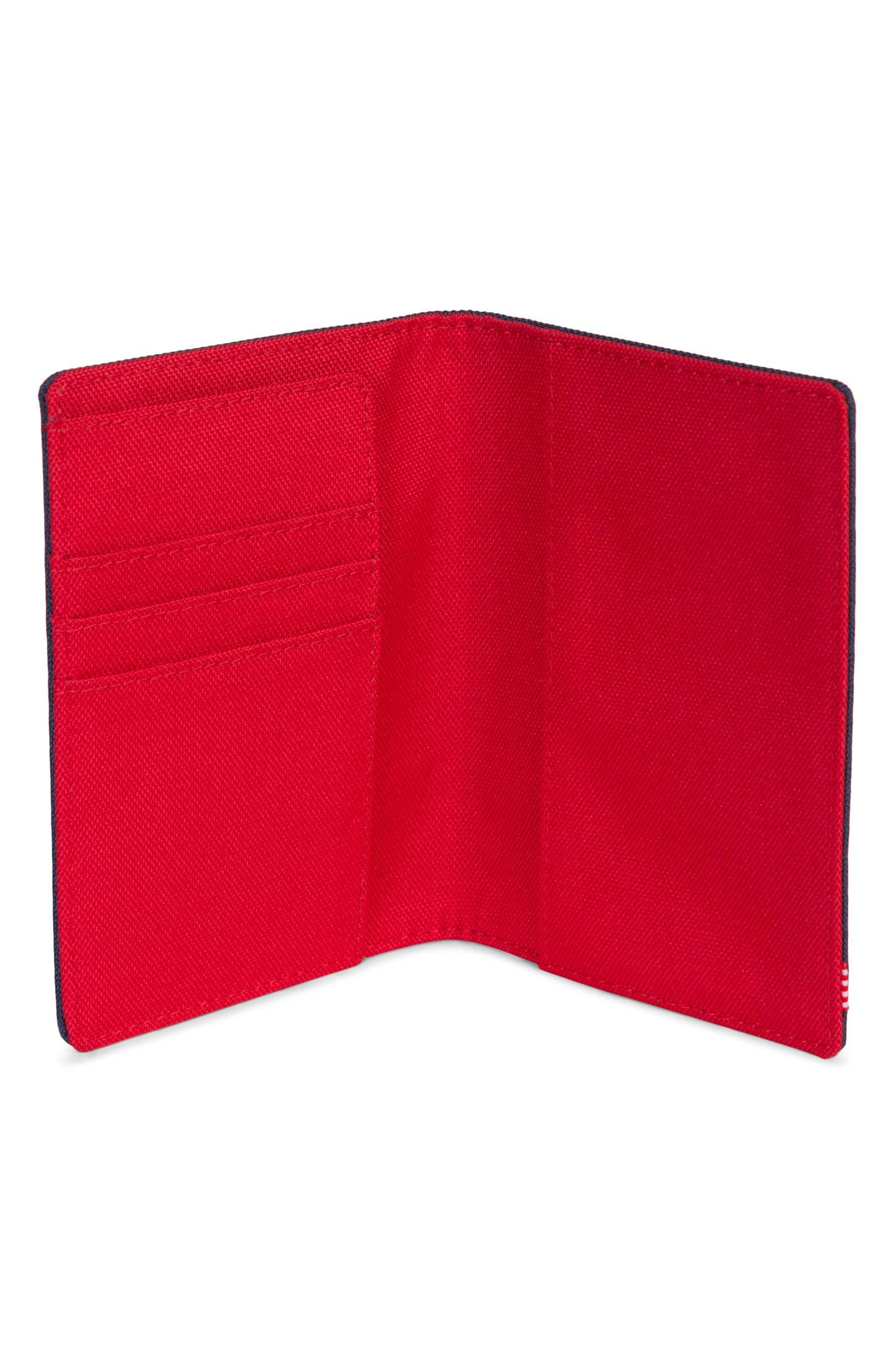 'Raynor' Passport Holder,                             Alternate thumbnail 2, color,                             Navy/ Red