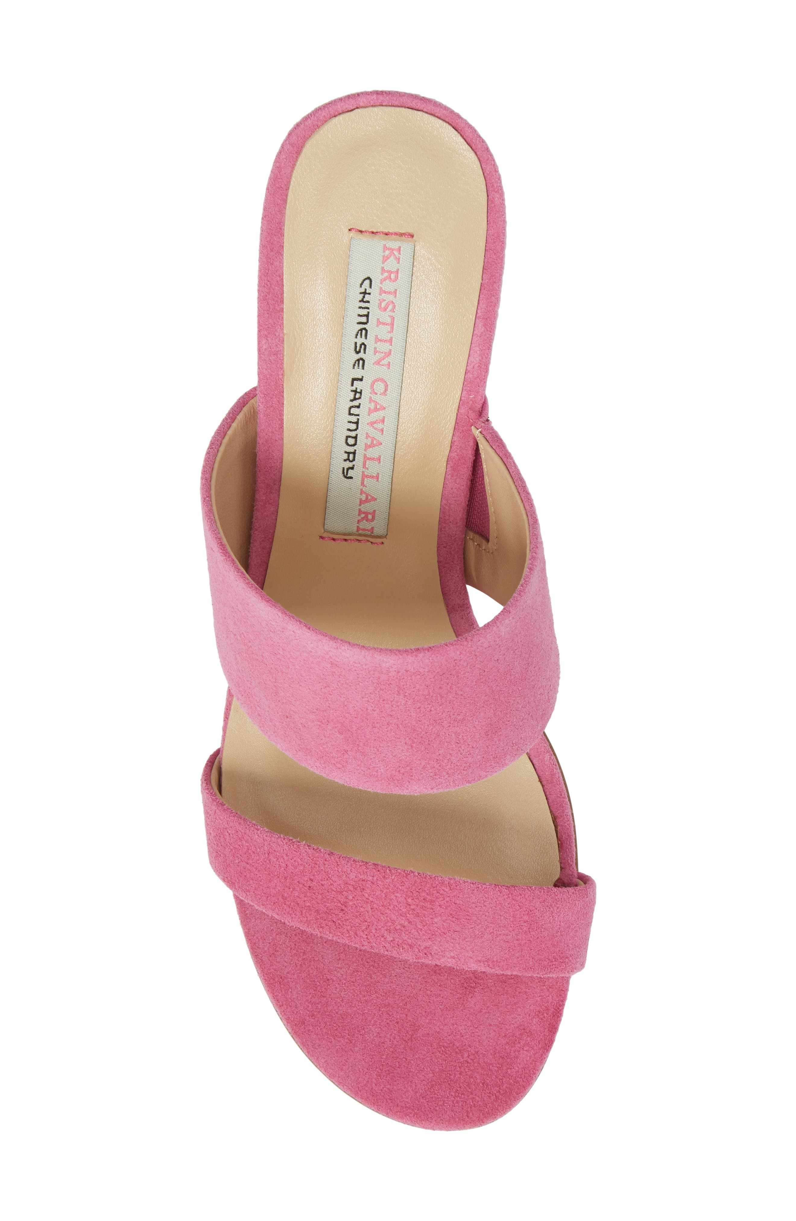 Lakeview Sandal,                             Alternate thumbnail 5, color,                             Fuchsia Suede