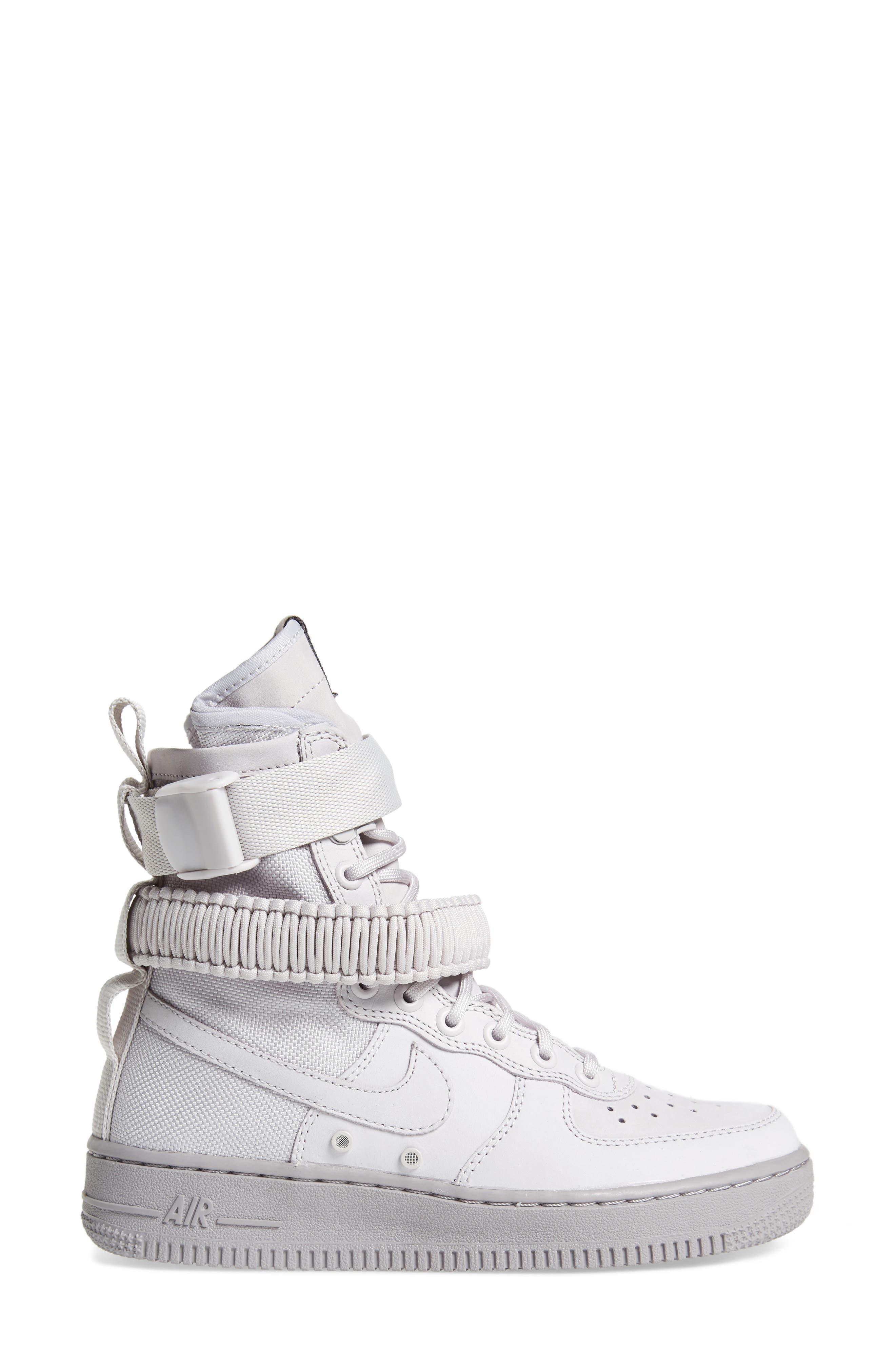 SF Air Force 1 High Top Sneaker,                             Alternate thumbnail 3, color,                             Vast Grey/ Vast Grey
