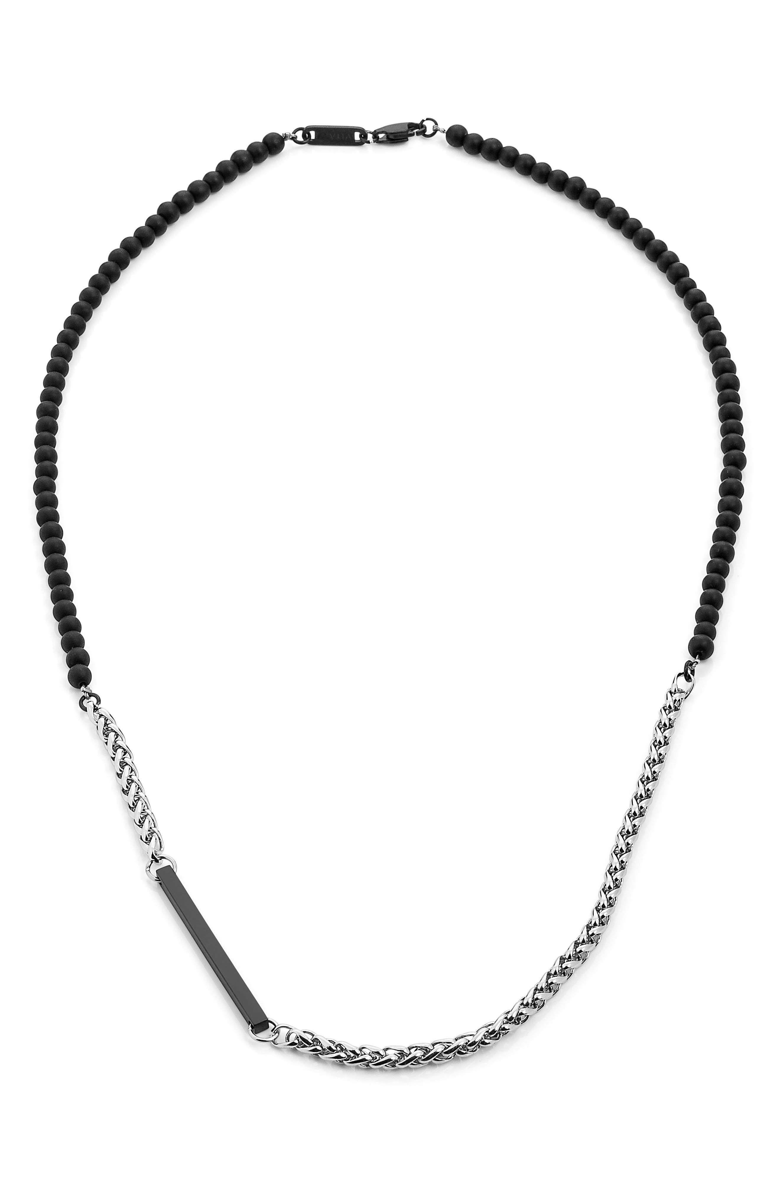Helix Necklace,                         Main,                         color, Stainless Steel
