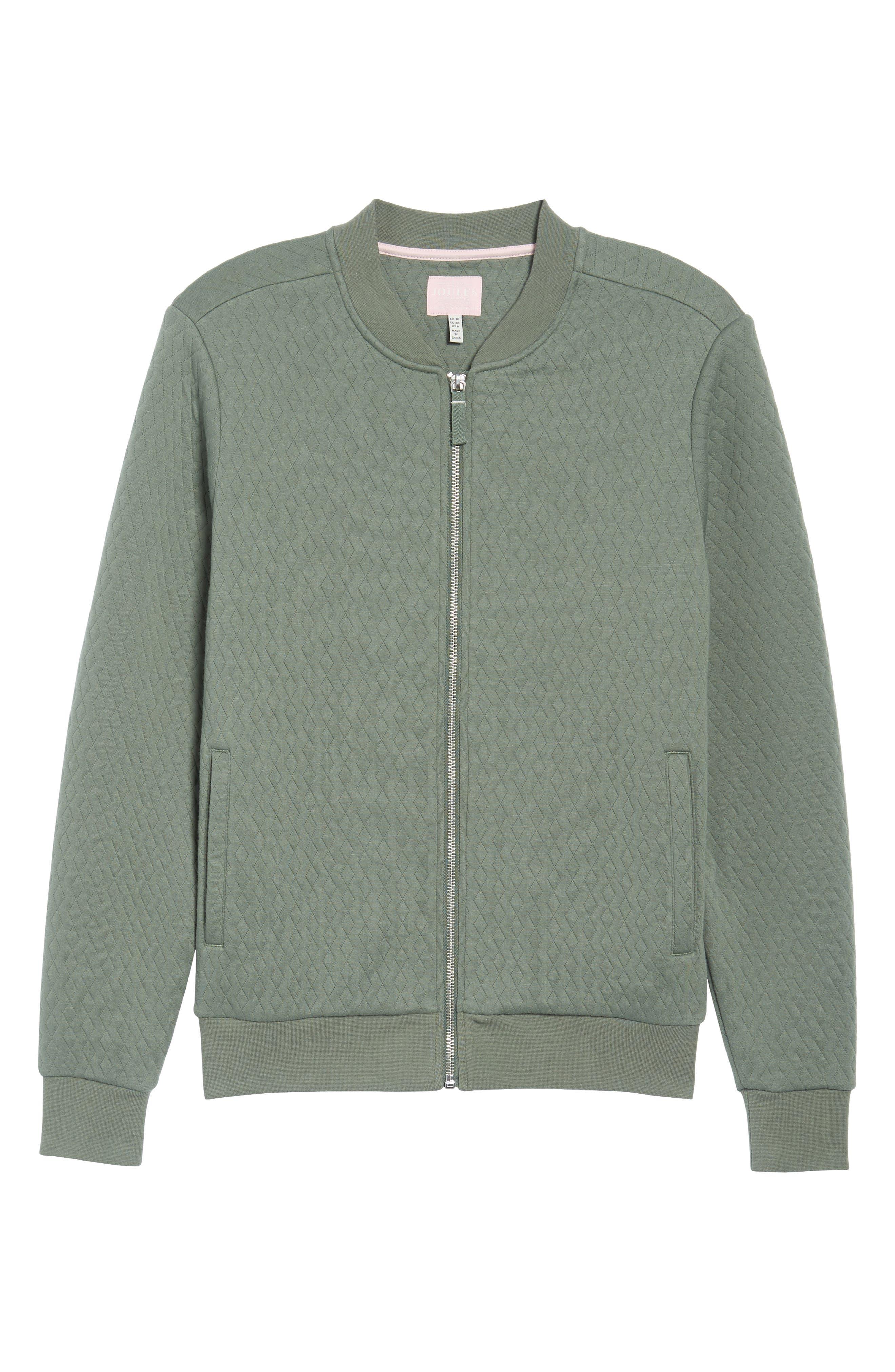Millie Bomber Sweatshirt Jacket,                             Main thumbnail 1, color,                             Laurel
